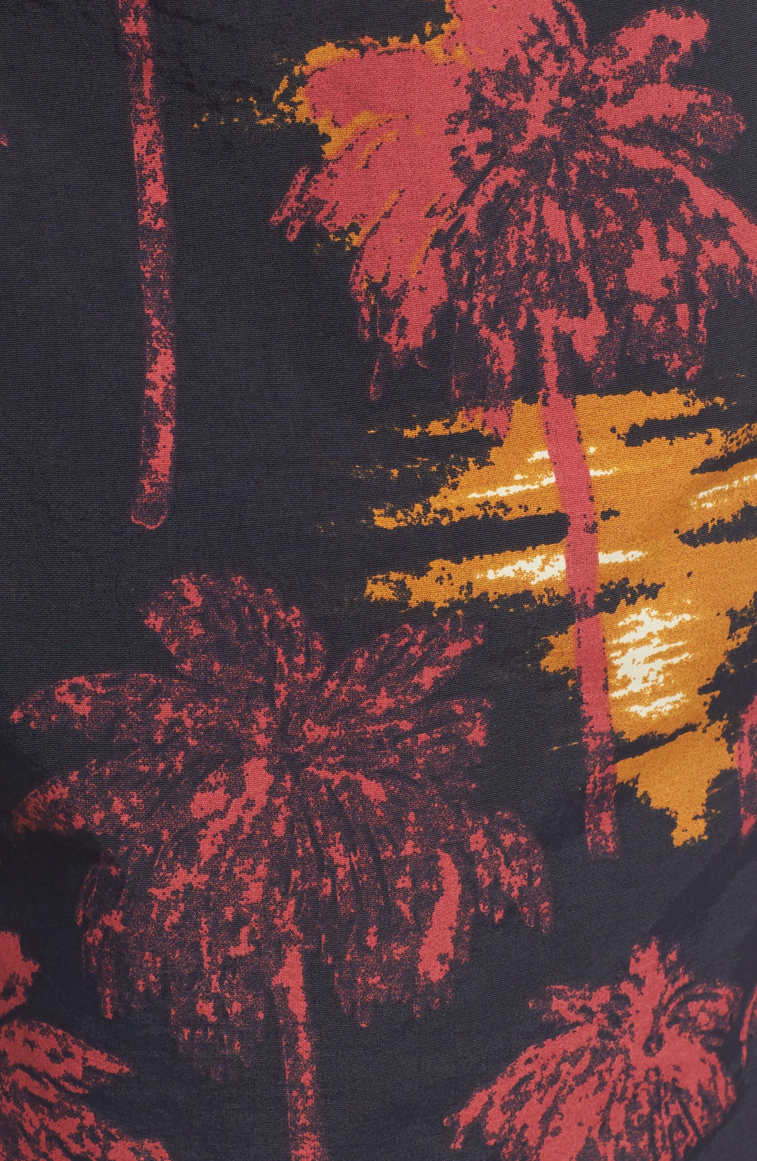 Zack Hawaii Swim Trunks,                             Alternate thumbnail 5, color,                             Hawaii Night