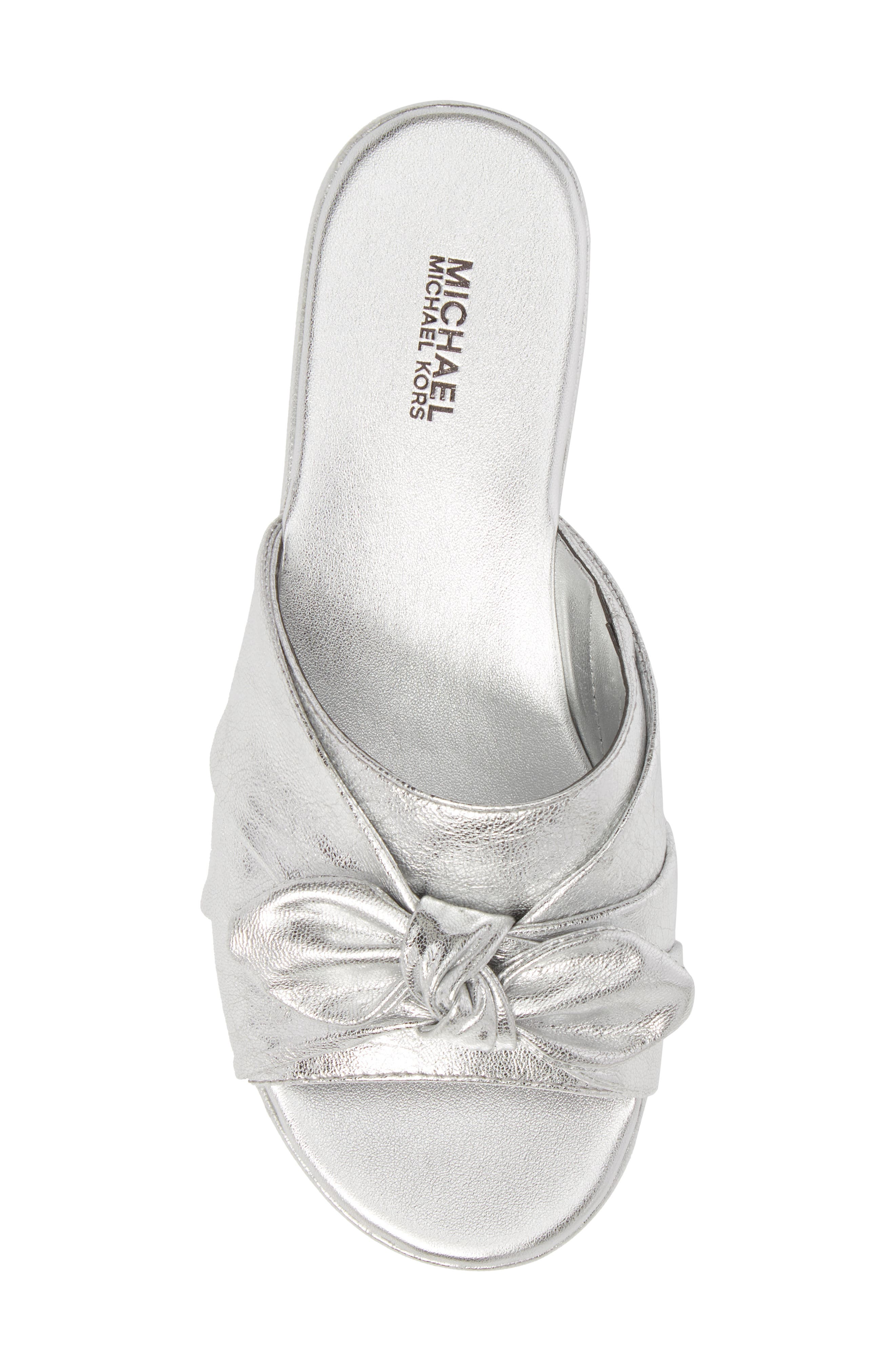 Pippa Platform Slide Sandal,                             Alternate thumbnail 5, color,                             Silver