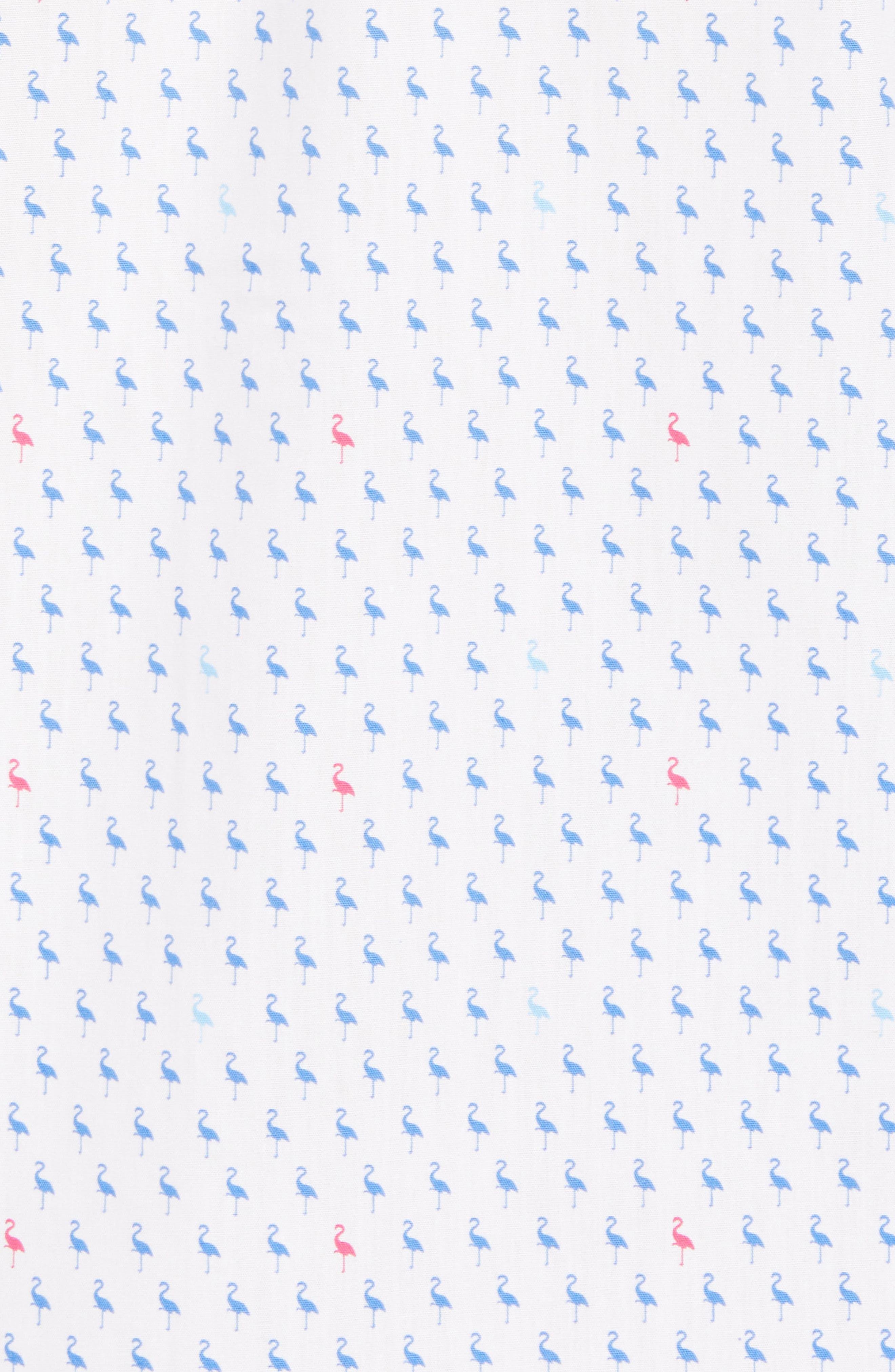 Auden Regular Fit Print Sport Shirt,                             Alternate thumbnail 5, color,                             Peri Blue