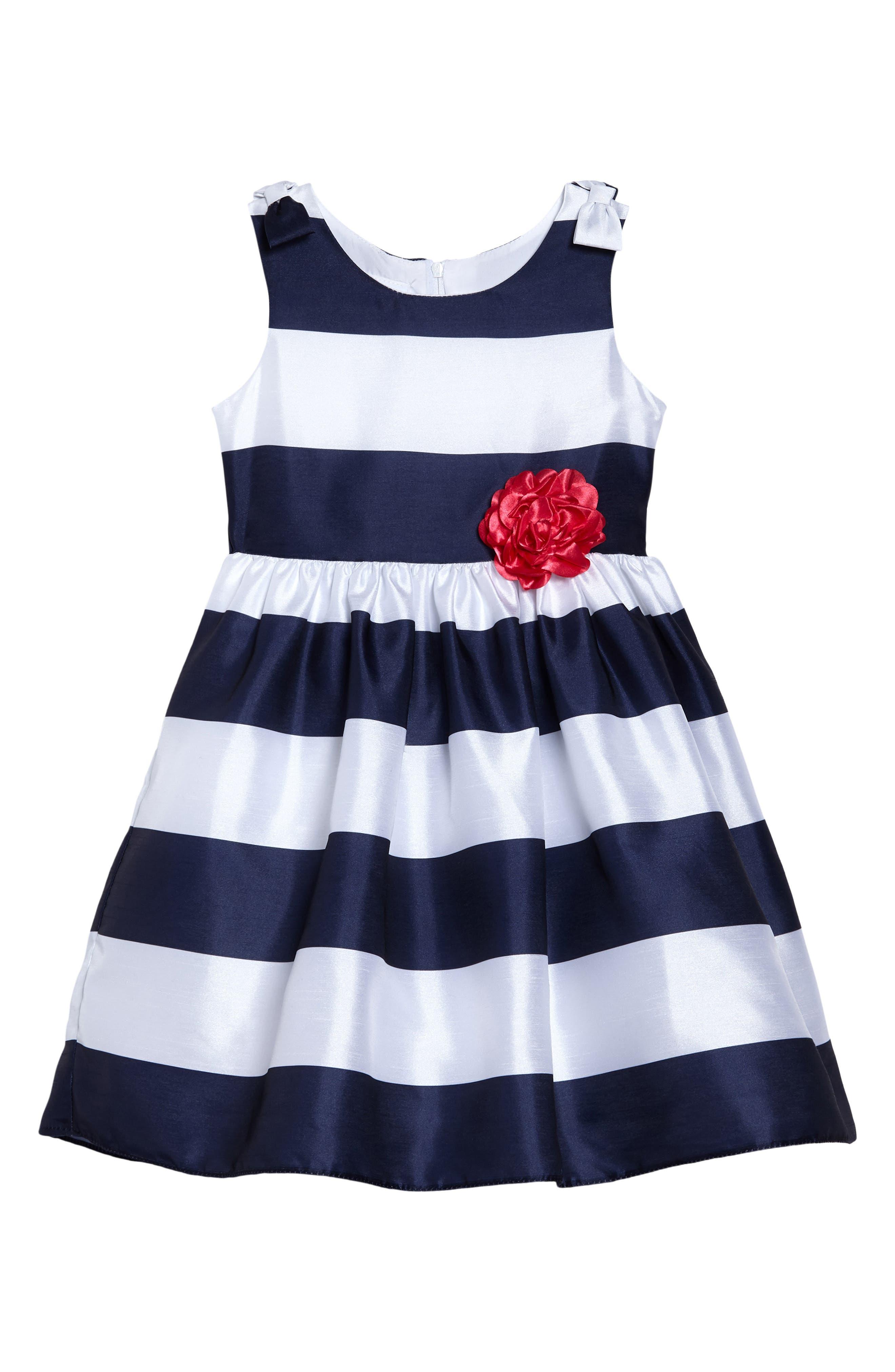 Frais Stripe Sleeveless Dress (Toddler Girls, Little Girls & Big Girls)