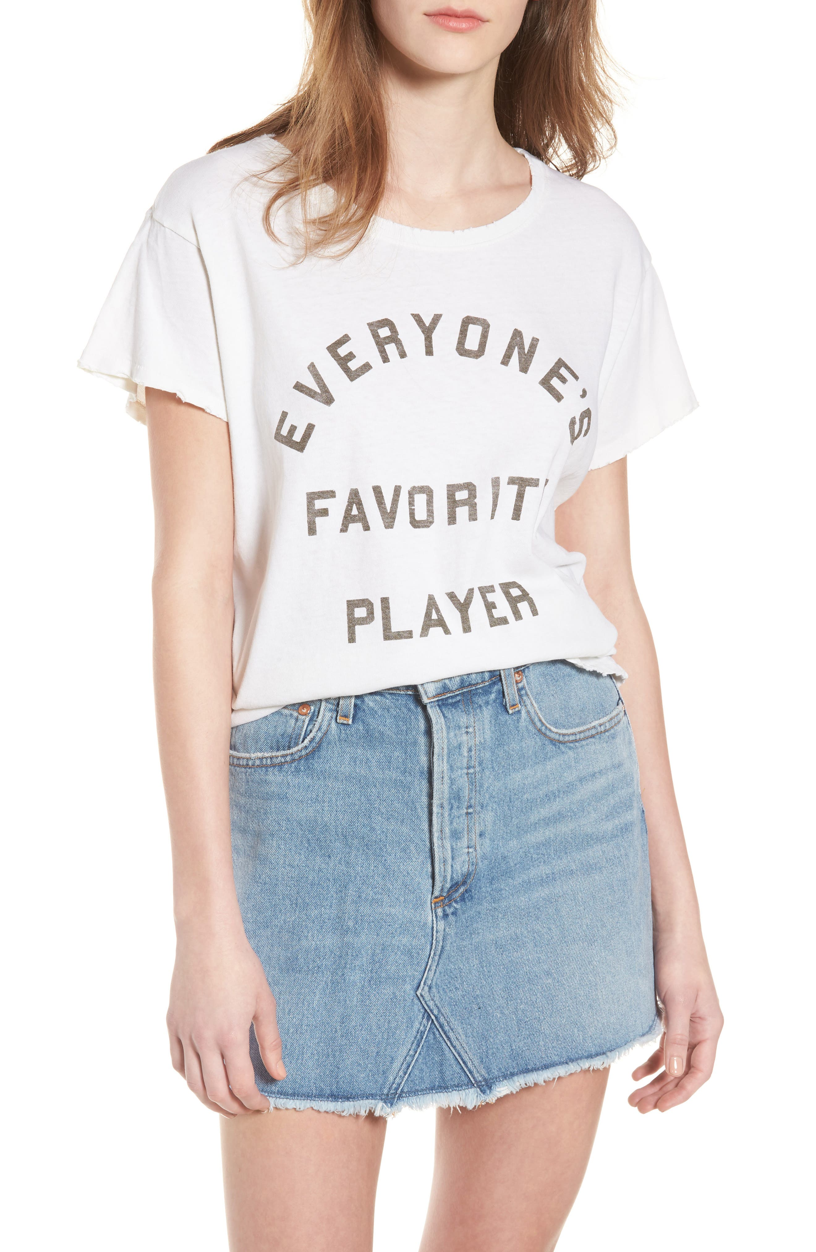 Everyone's Favorite Player Tee,                             Main thumbnail 1, color,                             Vintage White
