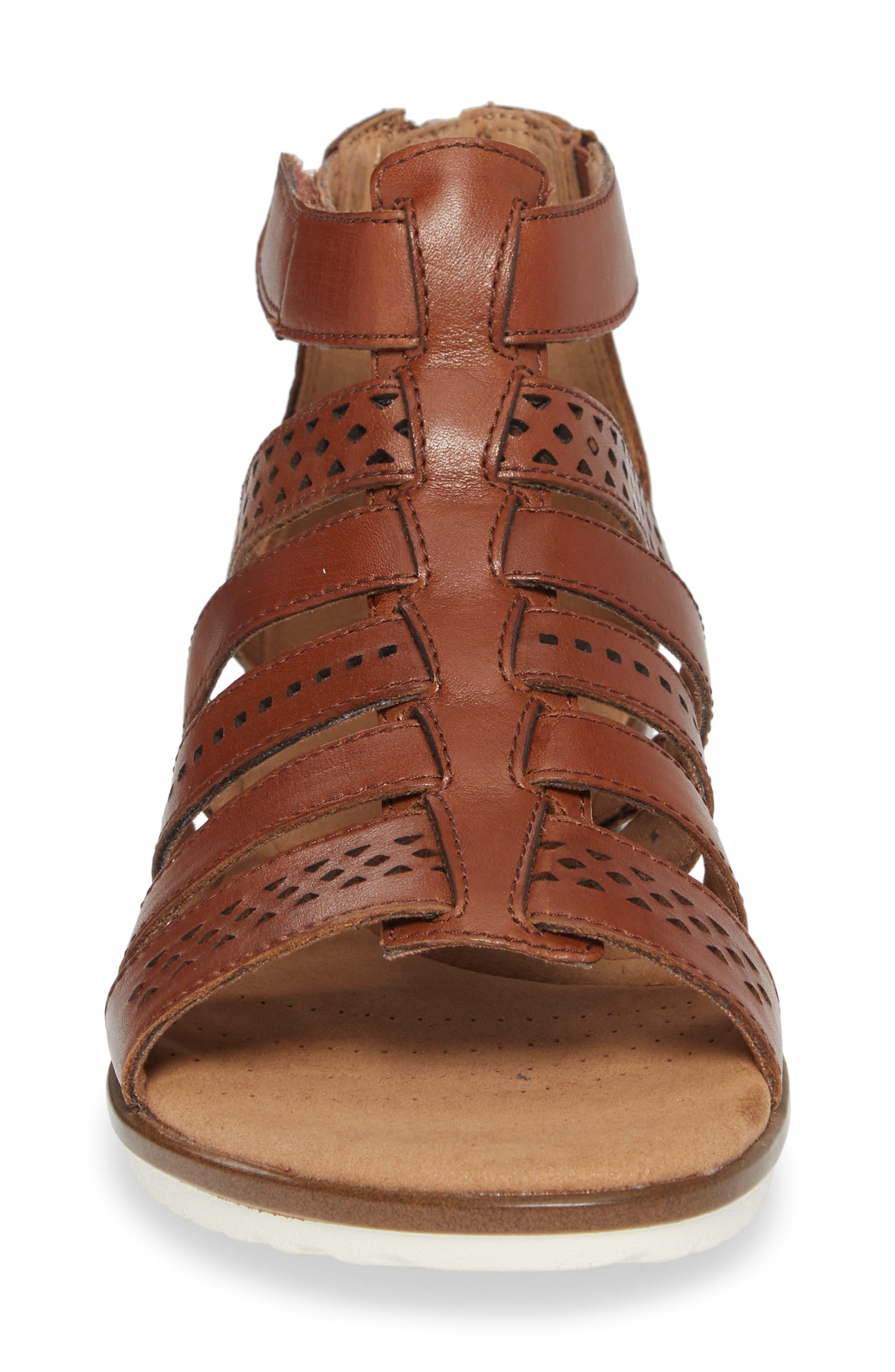 Kele Lotus Sandal,                             Alternate thumbnail 4, color,                             Beige Leather