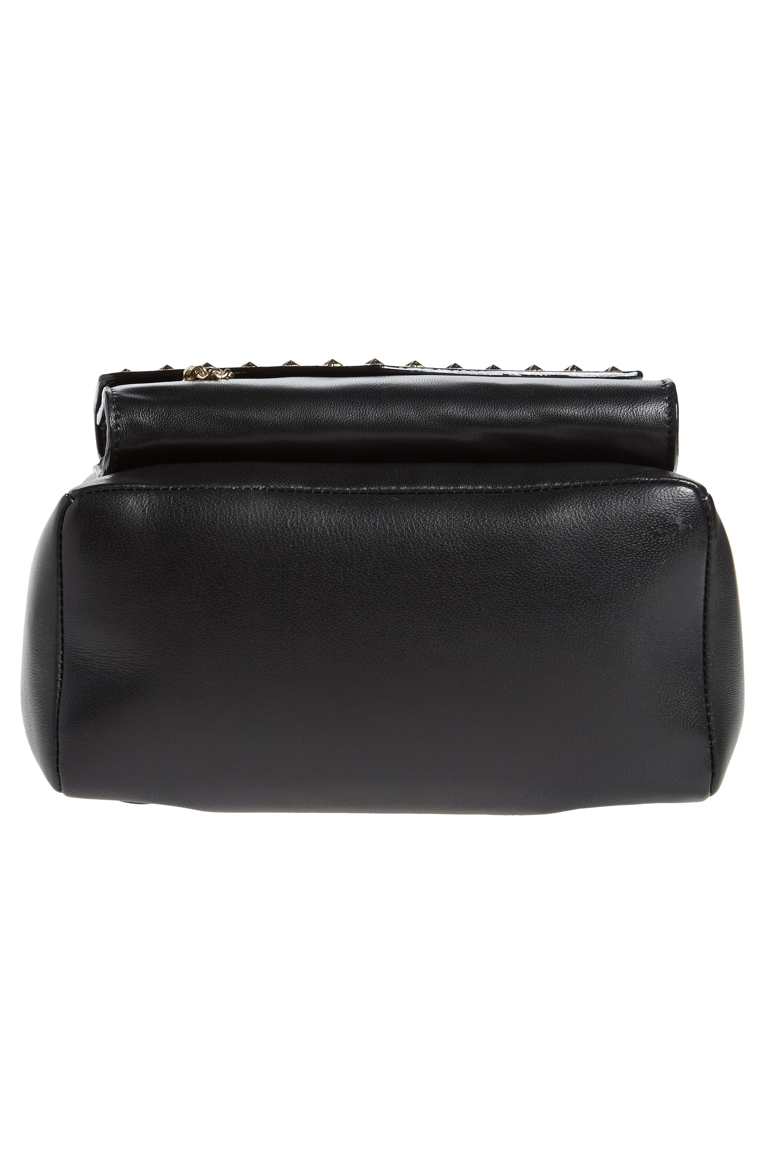 Cassie Star Studded Lambskin Leather Backpack,                             Alternate thumbnail 6, color,                             Black