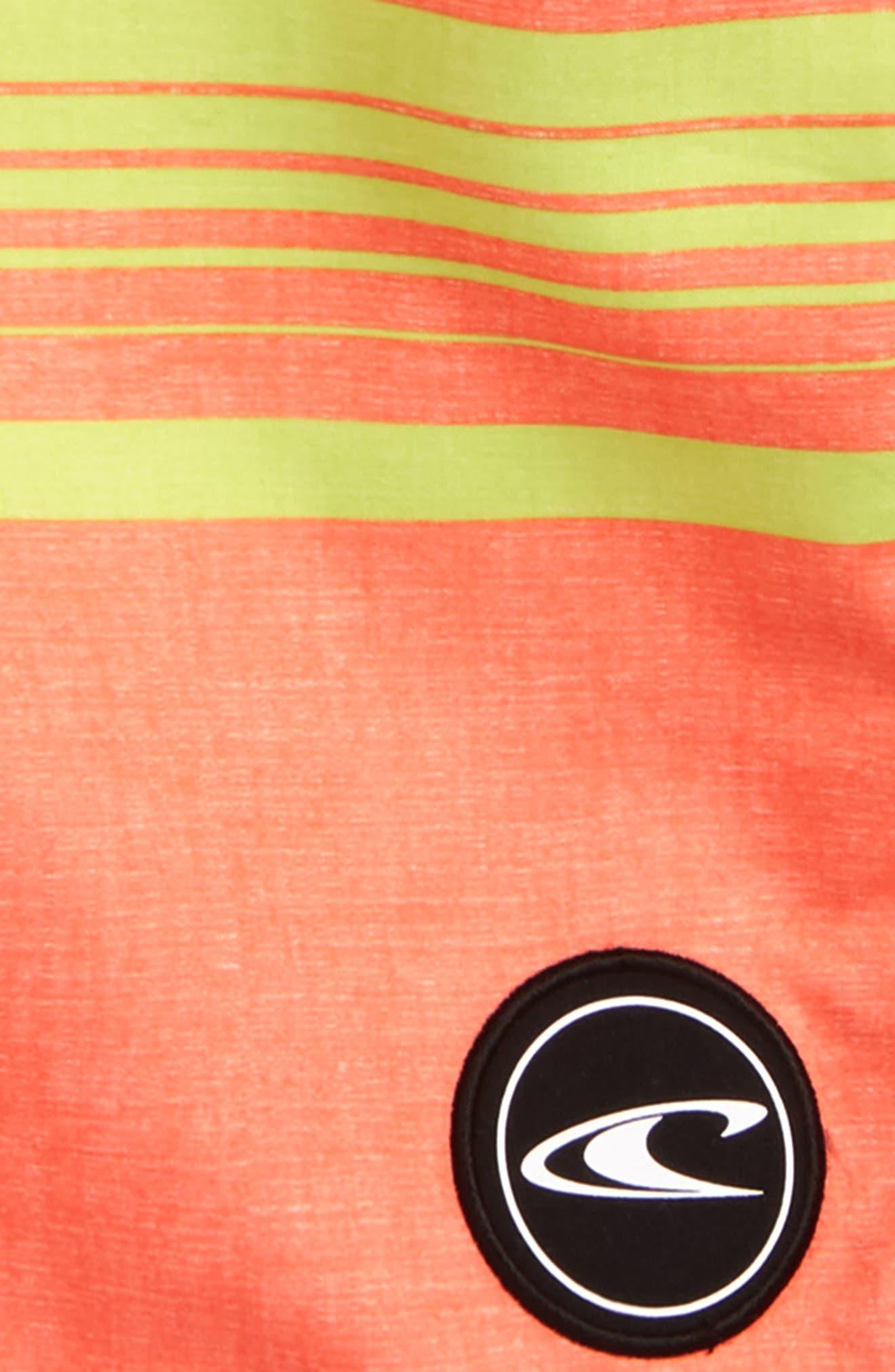 Stripe Board Shorts,                             Alternate thumbnail 2, color,                             Orange