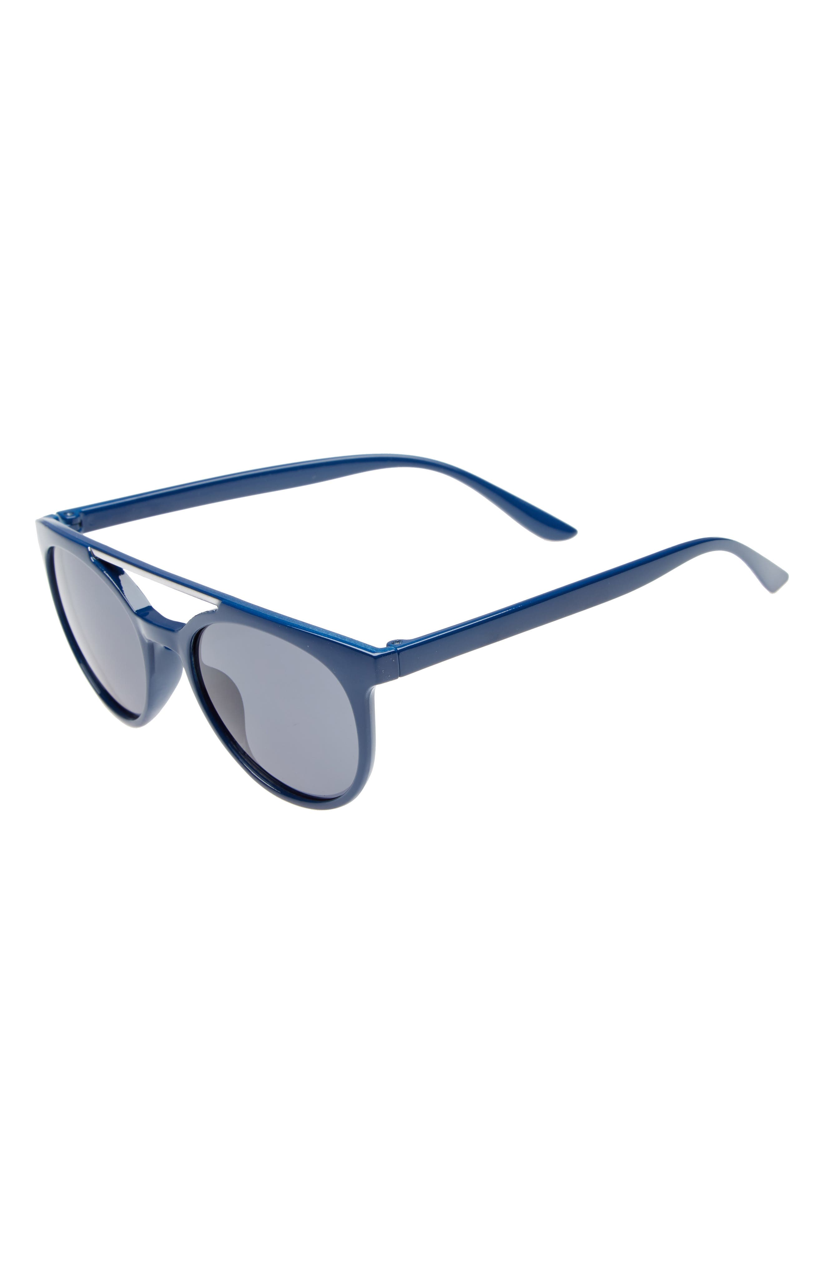 Basic Browbar Sunglasses,                             Main thumbnail 1, color,                             Blue