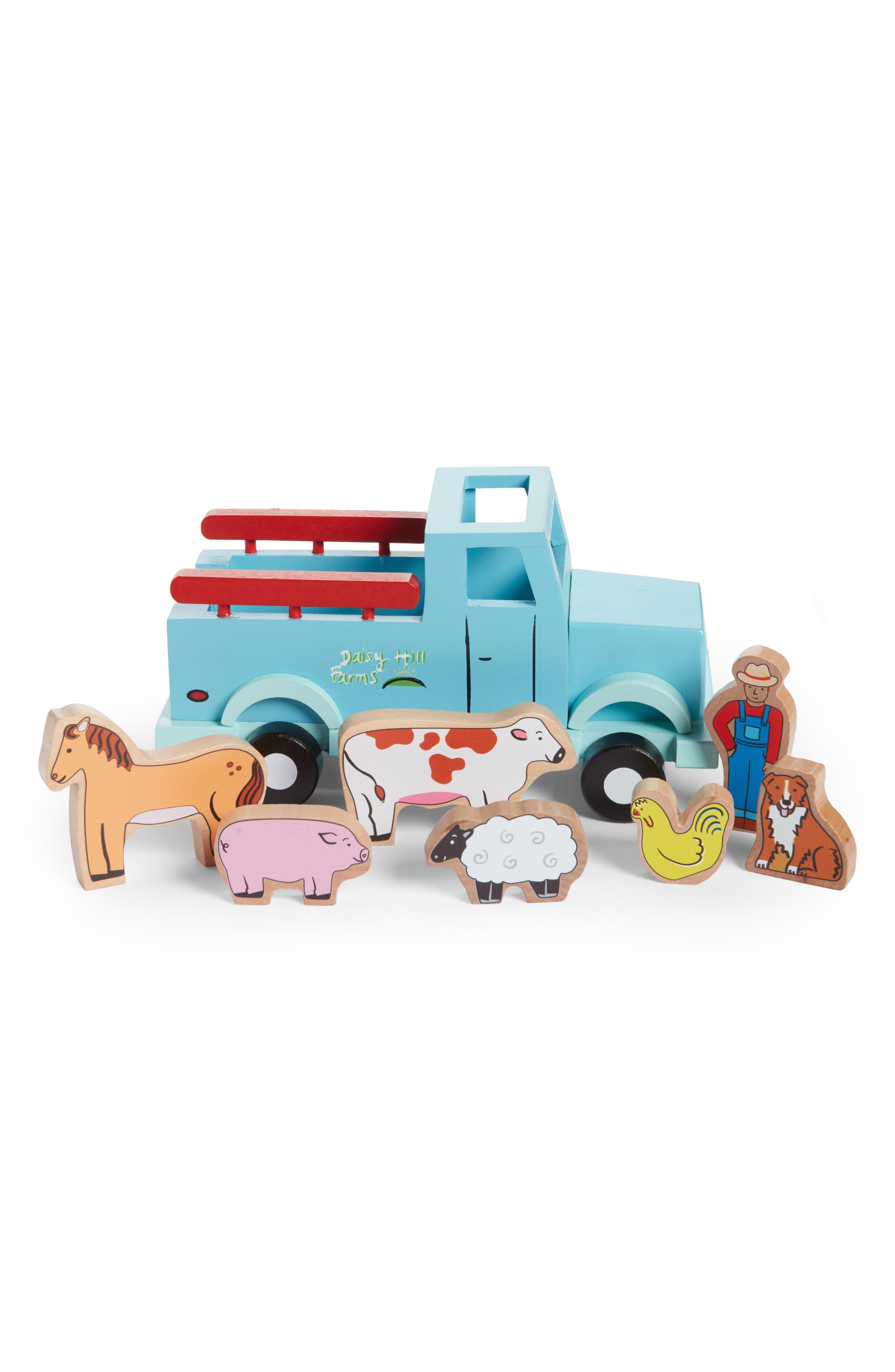 8-Piece Magnetic Farm Truck,                         Main,                         color, Multi