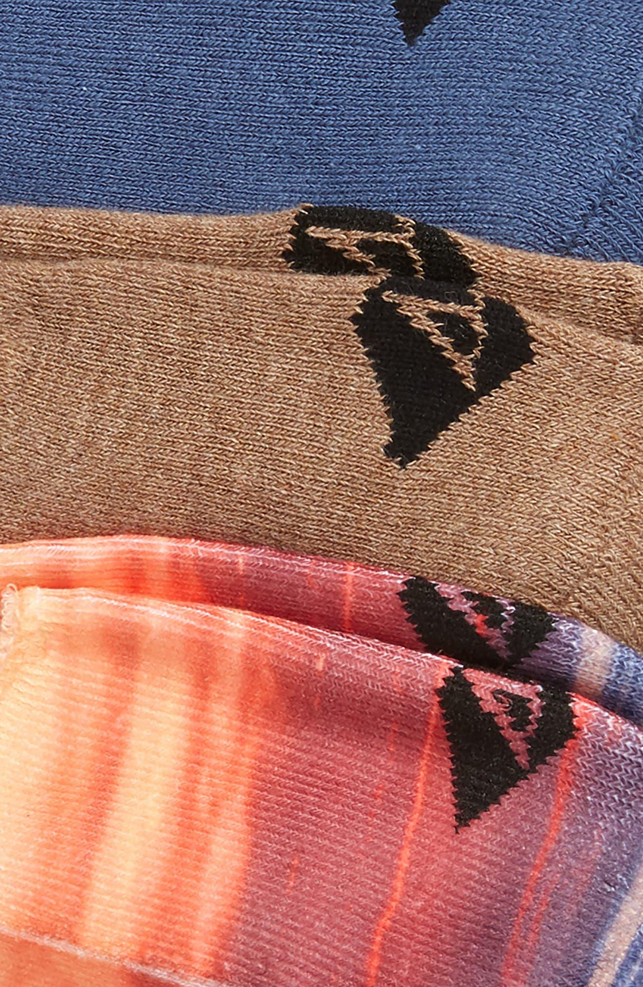 Assorted 3-Pack Liner Socks,                             Alternate thumbnail 2, color,                             Indigo Assorted