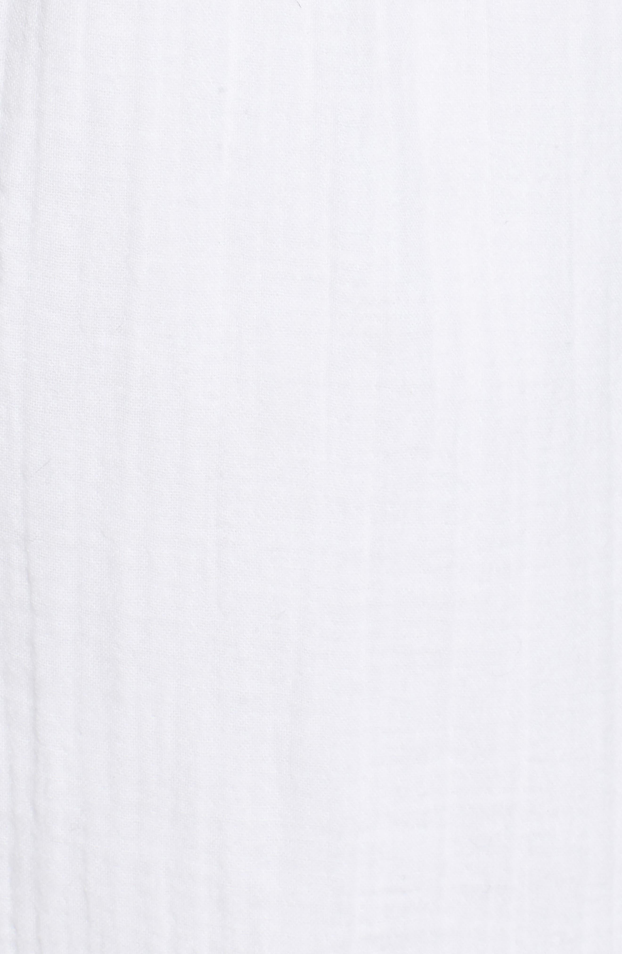 Straight Leg Organic Cotton Pants,                             Alternate thumbnail 6, color,                             White
