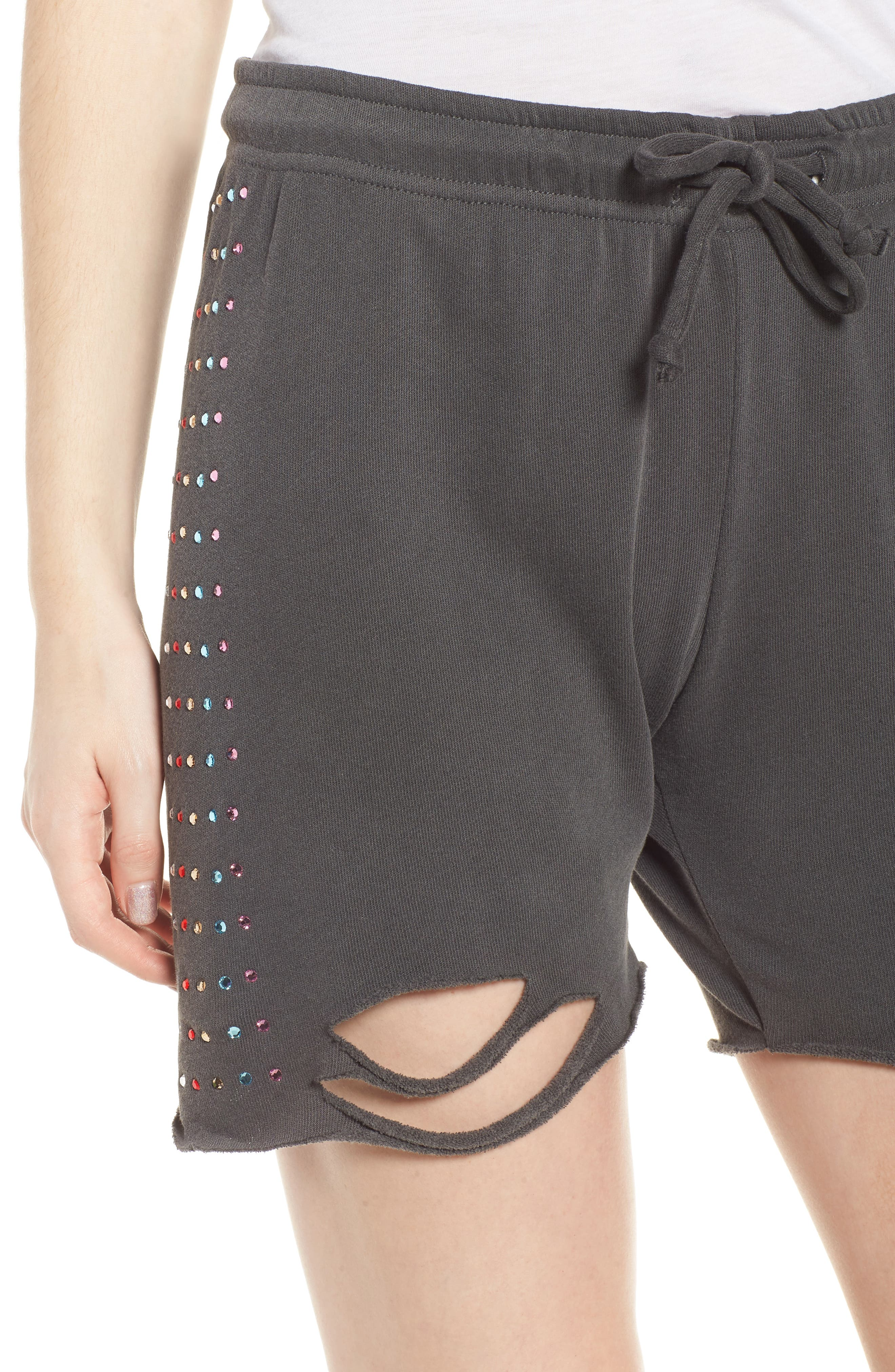 Rainbow Glitz Shorts,                             Alternate thumbnail 4, color,                             Pigment Black