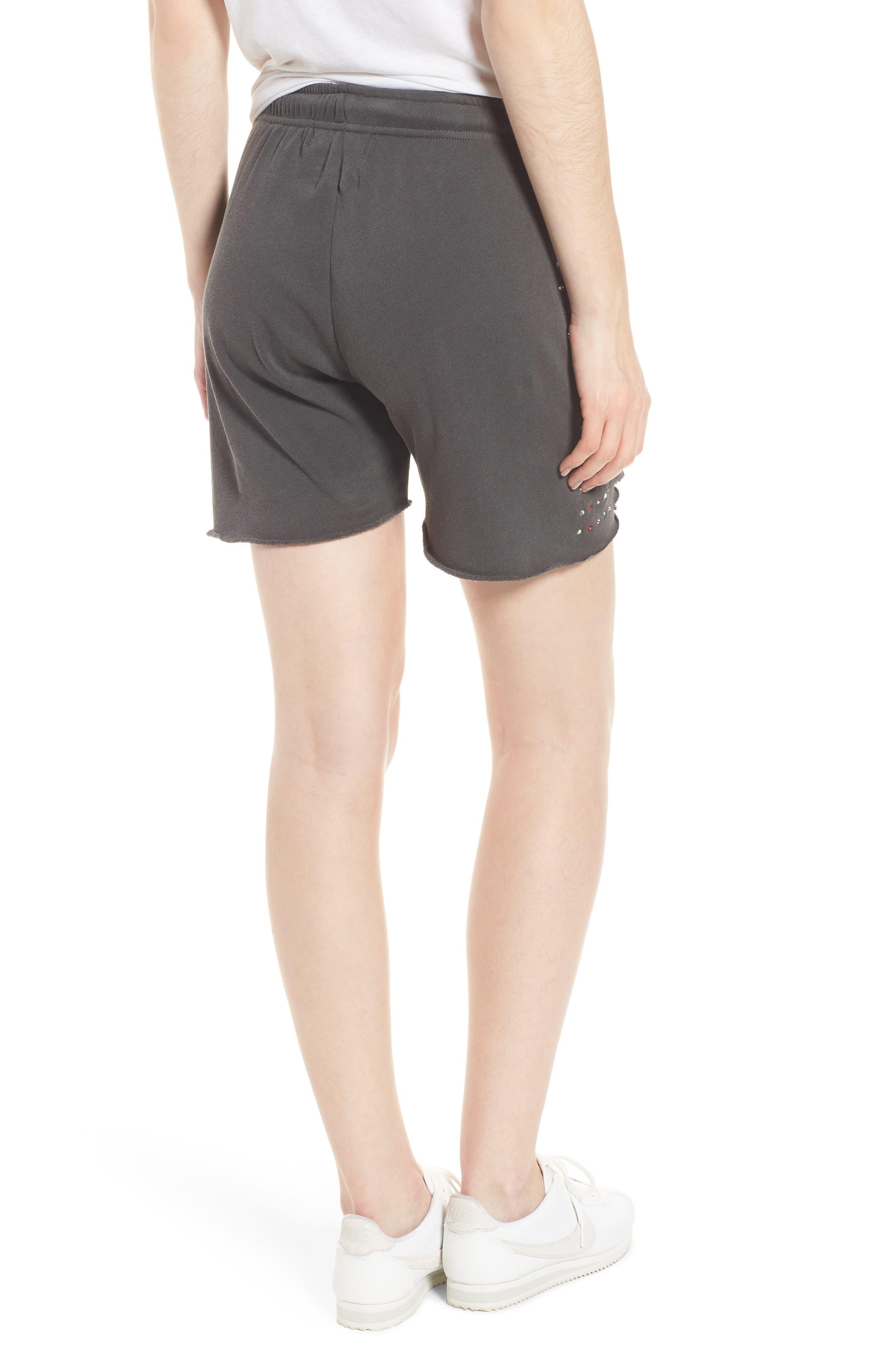 Rainbow Glitz Shorts,                             Alternate thumbnail 2, color,                             Pigment Black