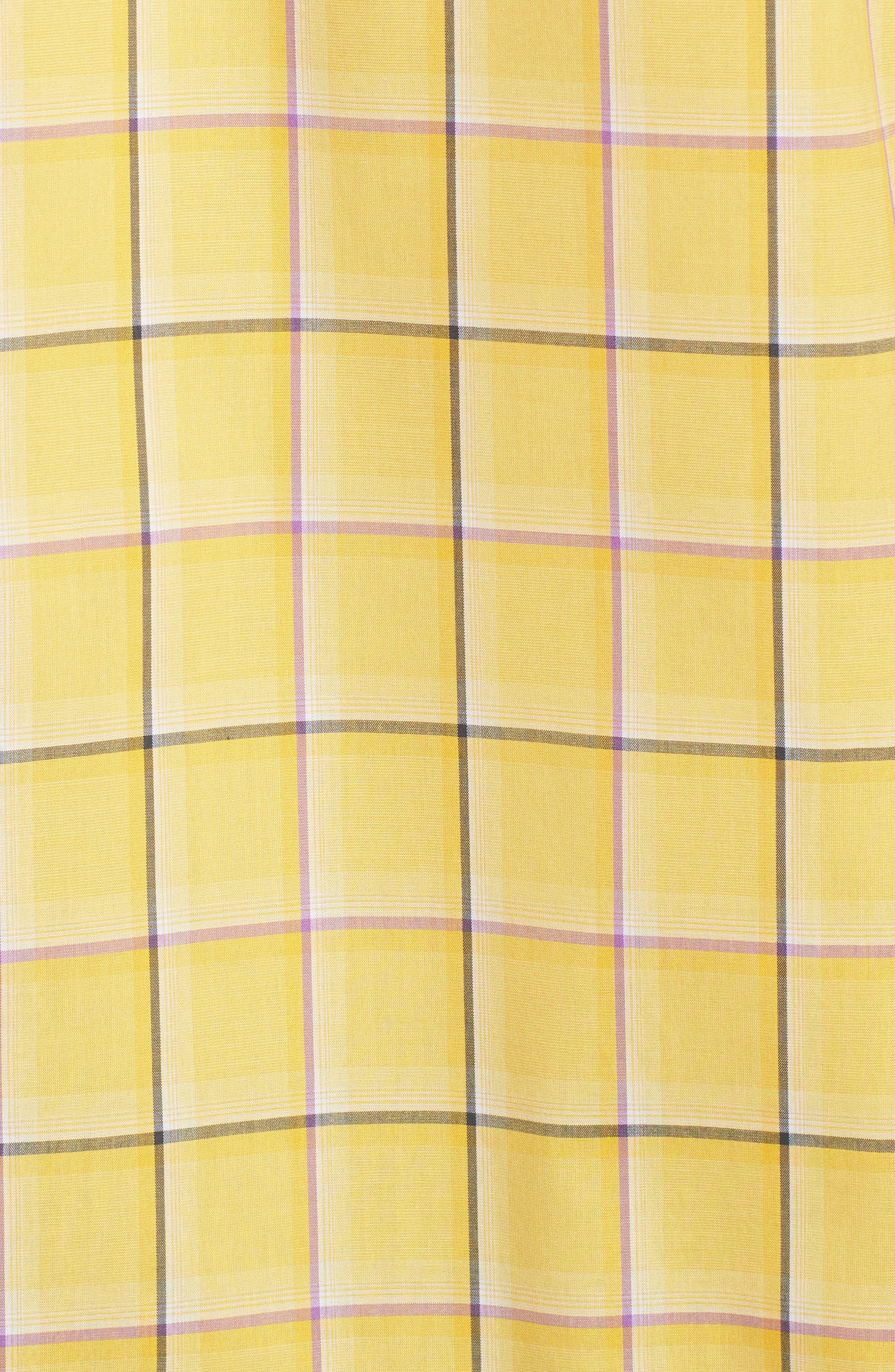 Classic Fit Check Sport Shirt,                             Alternate thumbnail 5, color,                             Lemon