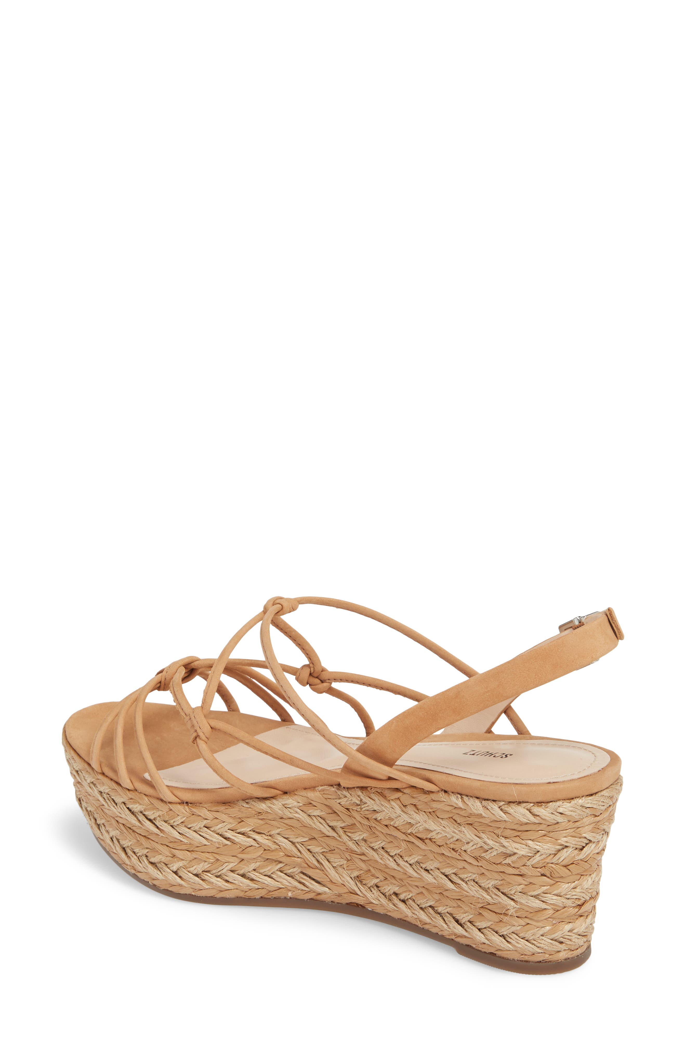 Latussa Platform Espadrille Sandal,                             Alternate thumbnail 2, color,                             Desert Leather
