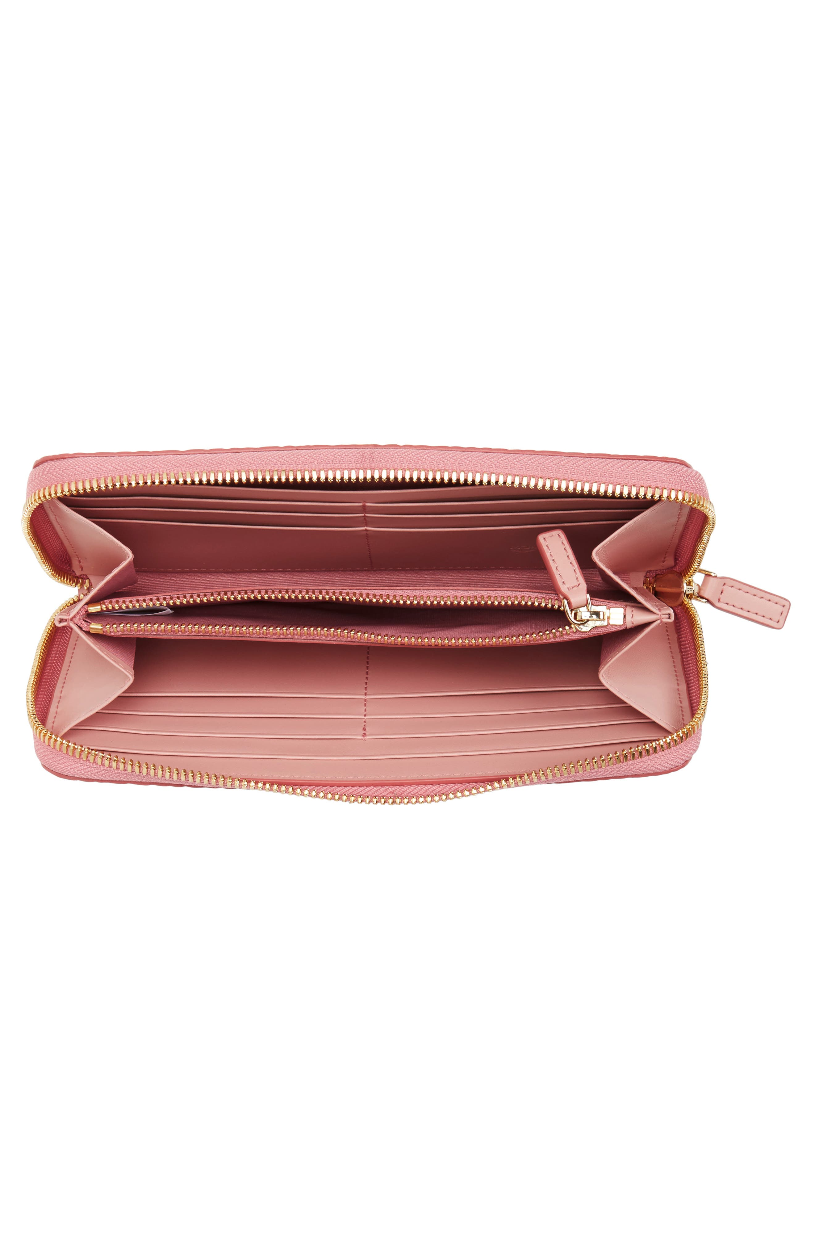 Visetos Coated Canvas Zip Wallet,                             Alternate thumbnail 2, color,                             Soft Pink