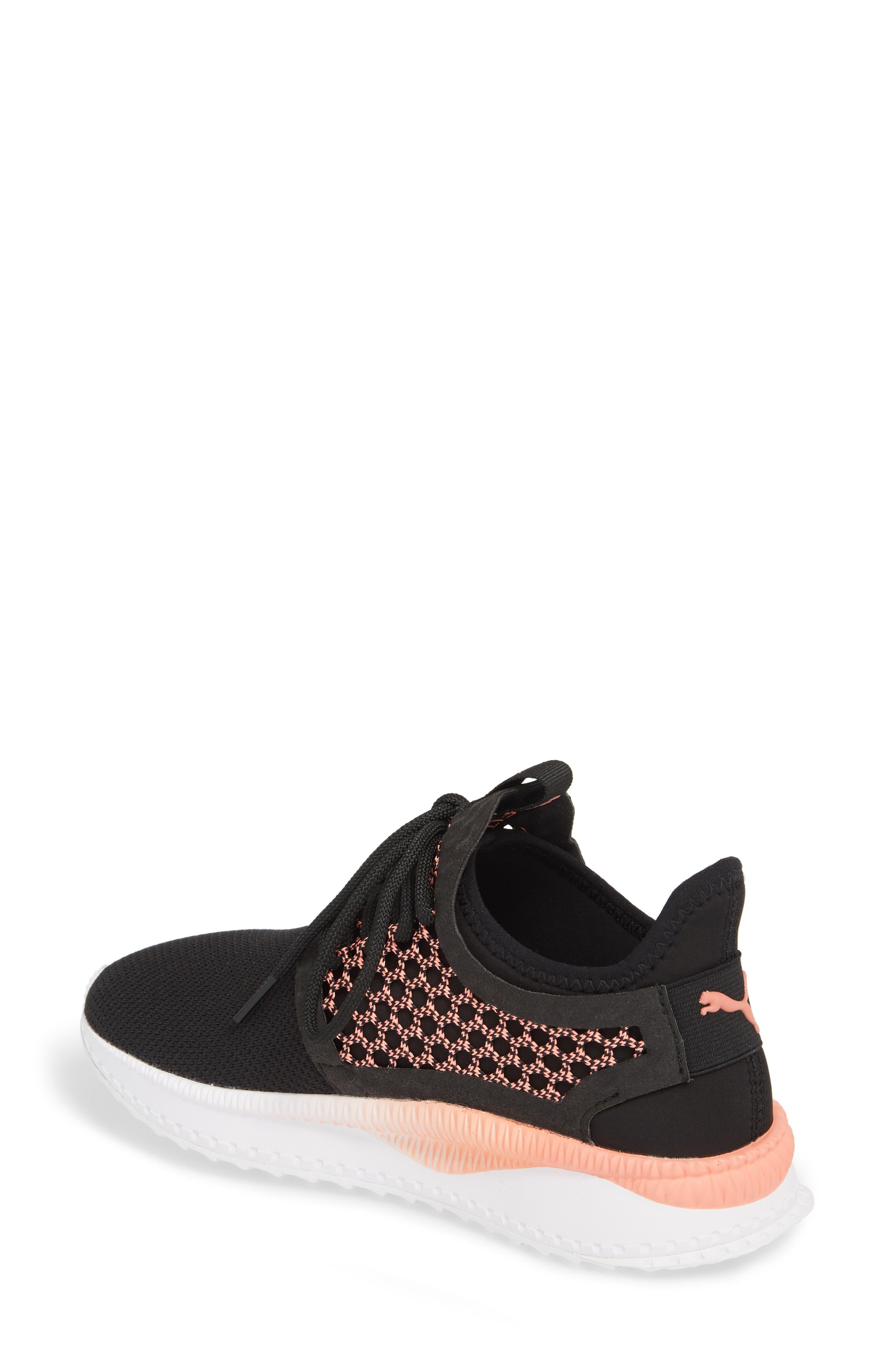 Tsugi Netfit evoKNIT Training Shoe,                             Alternate thumbnail 2, color,                             Black/ Shell Pink/ White
