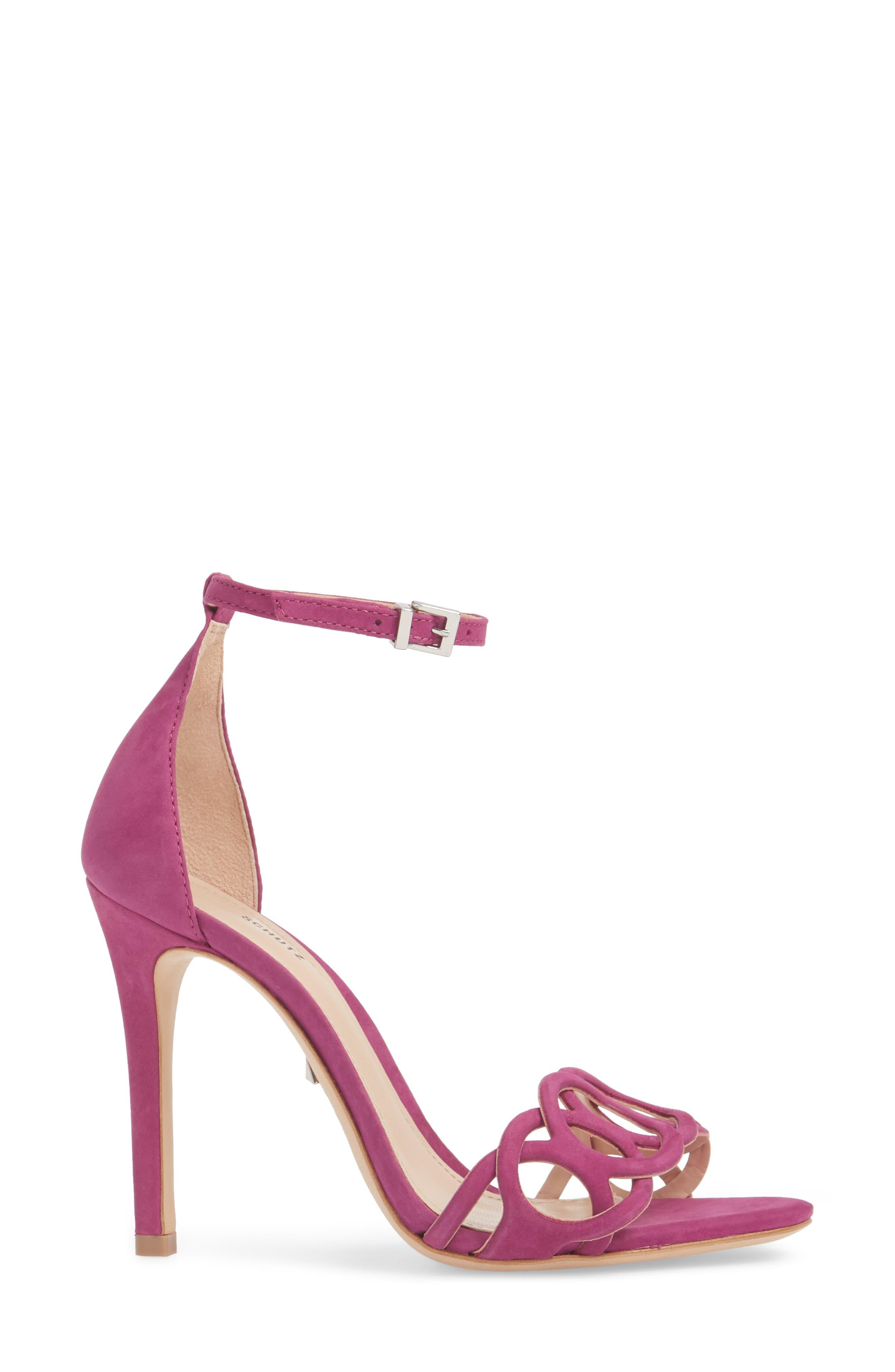 Sthefany Ankle Strap Sandal,                             Alternate thumbnail 3, color,                             Grape Leather