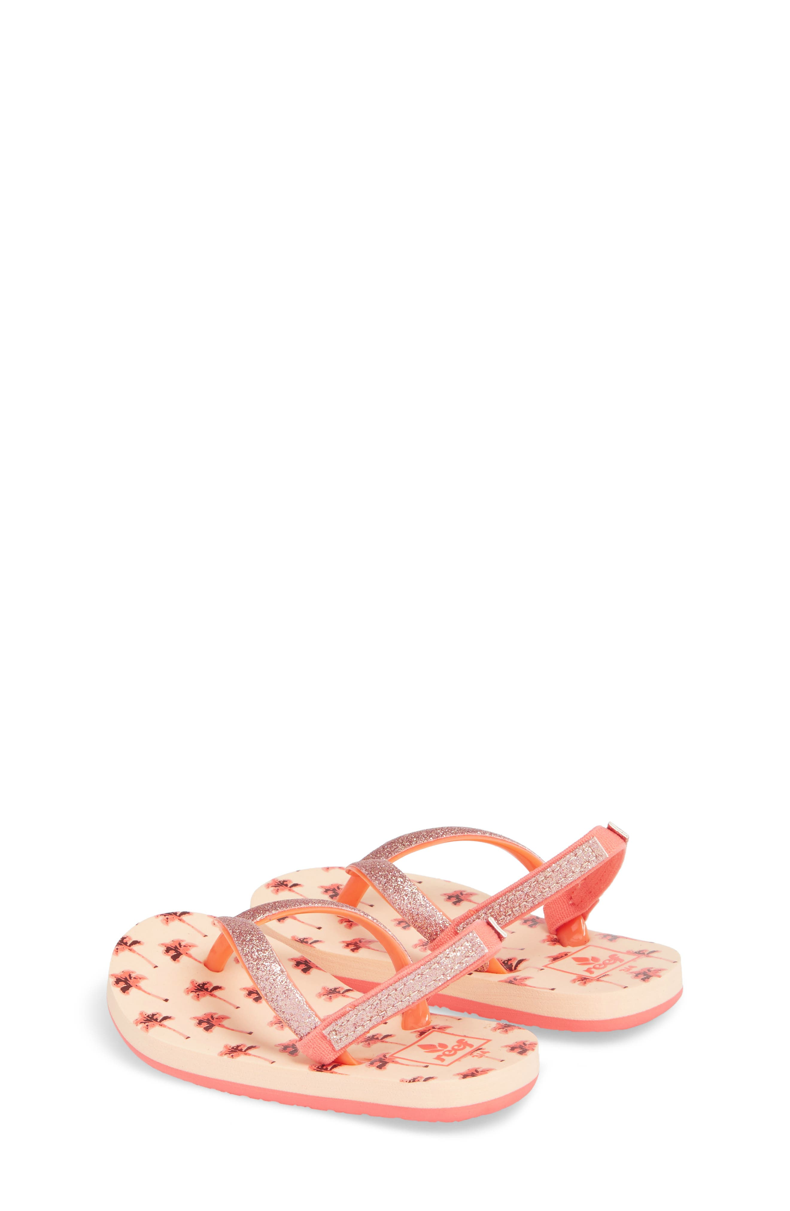 Little Stargazer Print Flip Flop,                             Alternate thumbnail 2, color,                             Orange