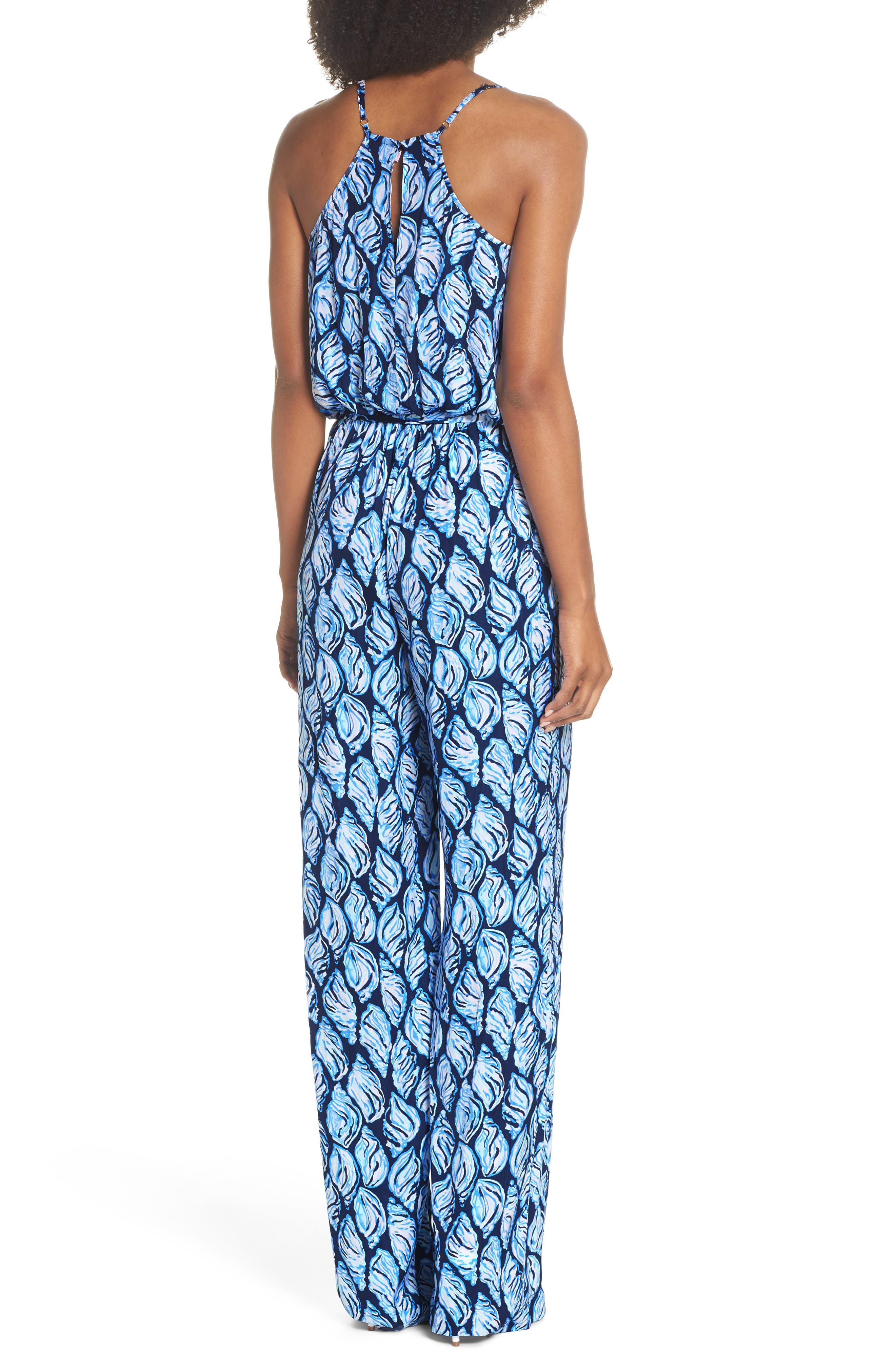 Lilly Pulizter<sup>®</sup> Dusk Sleeveless Jumpsuit,                             Alternate thumbnail 2, color,                             High Tide Drop In
