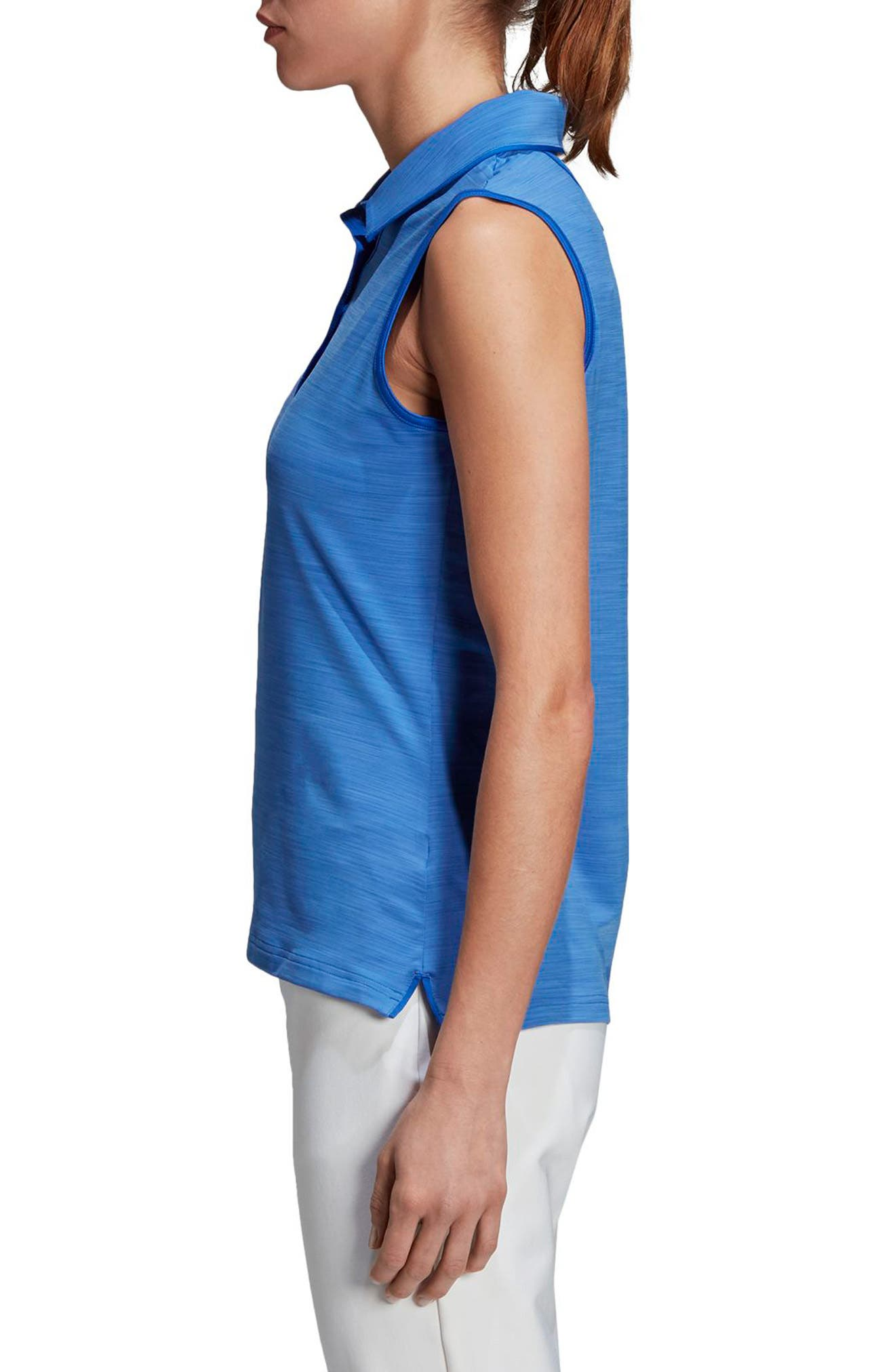 Ultimate365 Sleeveless Golf Polo,                             Alternate thumbnail 3, color,                             Hi-Res Blue