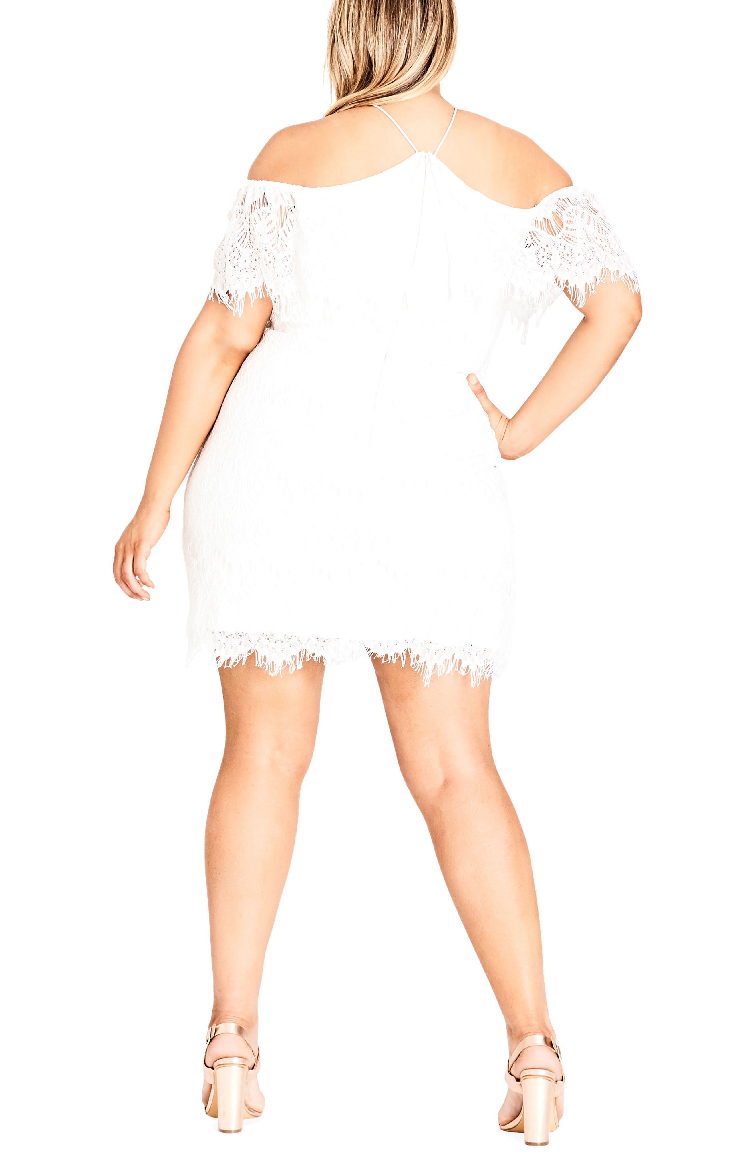 Lace Devotion Off the Shoulder Minidress,                             Alternate thumbnail 2, color,                             Ivory