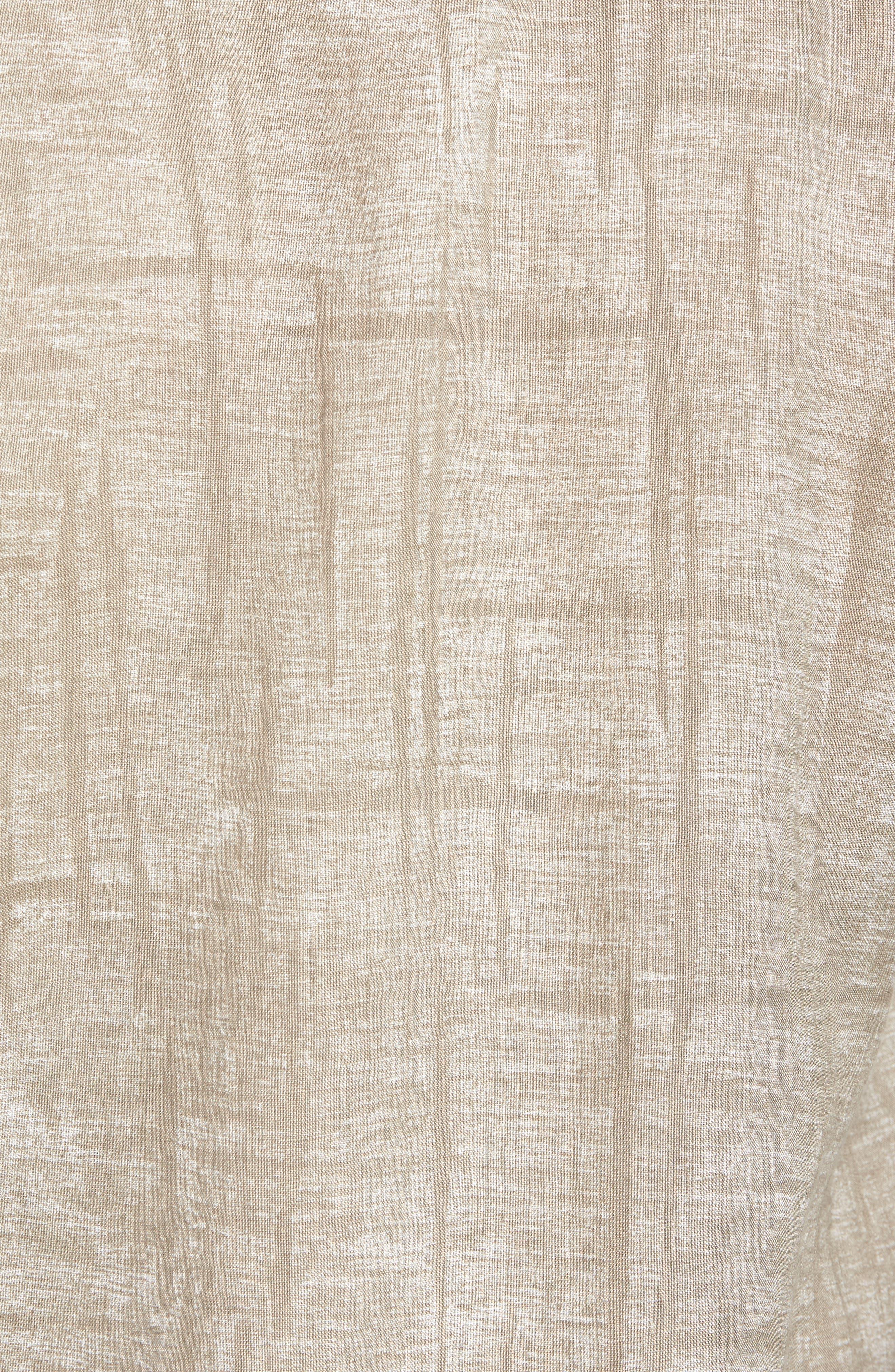 Shaped Fit Linen Sport Shirt,                             Alternate thumbnail 5, color,                             Sand