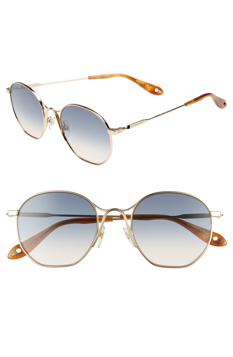 ba755c1933 GIVENCHY 53MM SQUARED ROUND METAL SUNGLASSES - GOLD