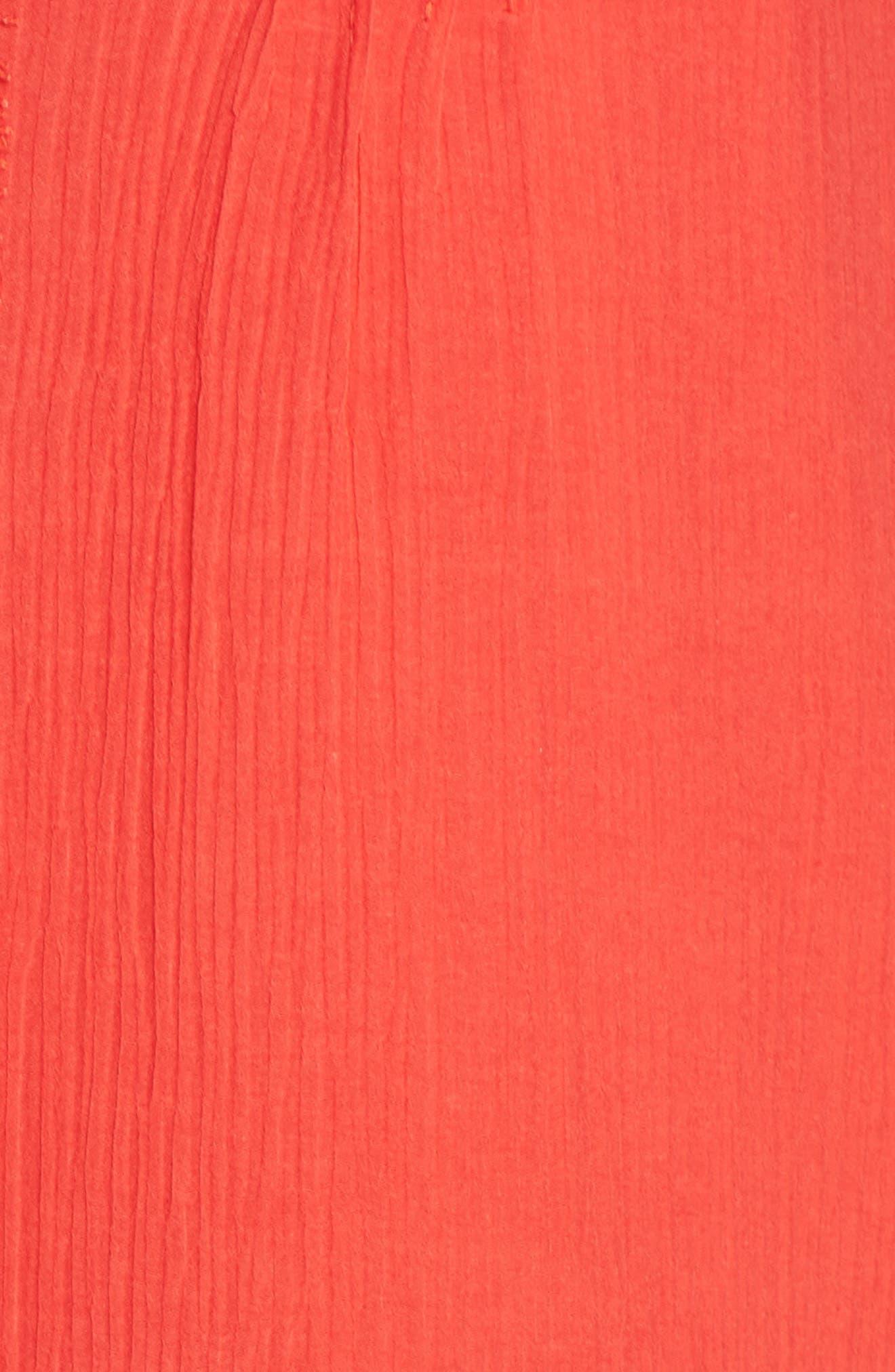 Mala Crinkle Shift Dress,                             Alternate thumbnail 6, color,                             Strawberry