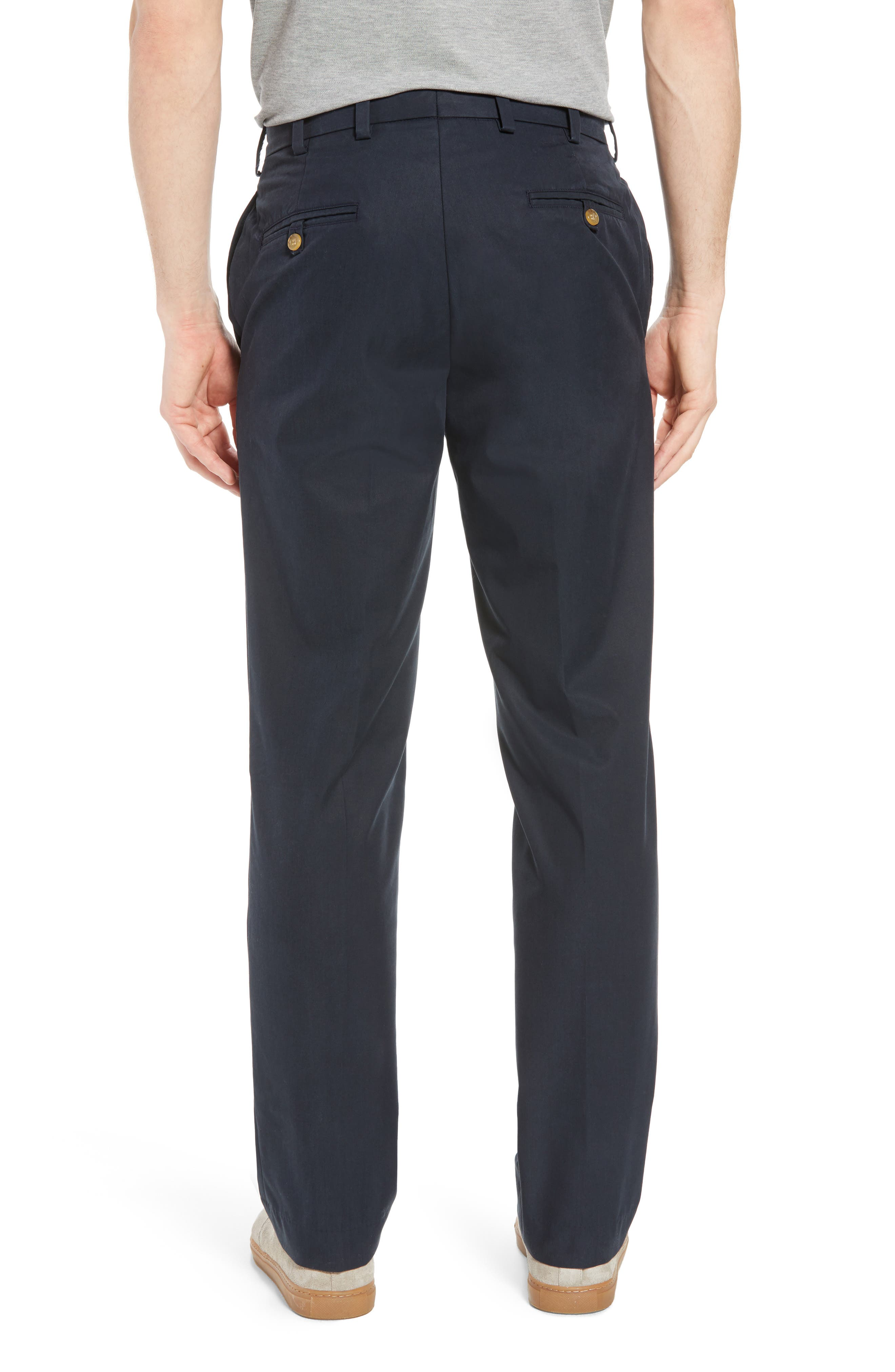 M2 Classic Fit Flat Front Travel Twill Pants,                             Alternate thumbnail 2, color,                             Navy