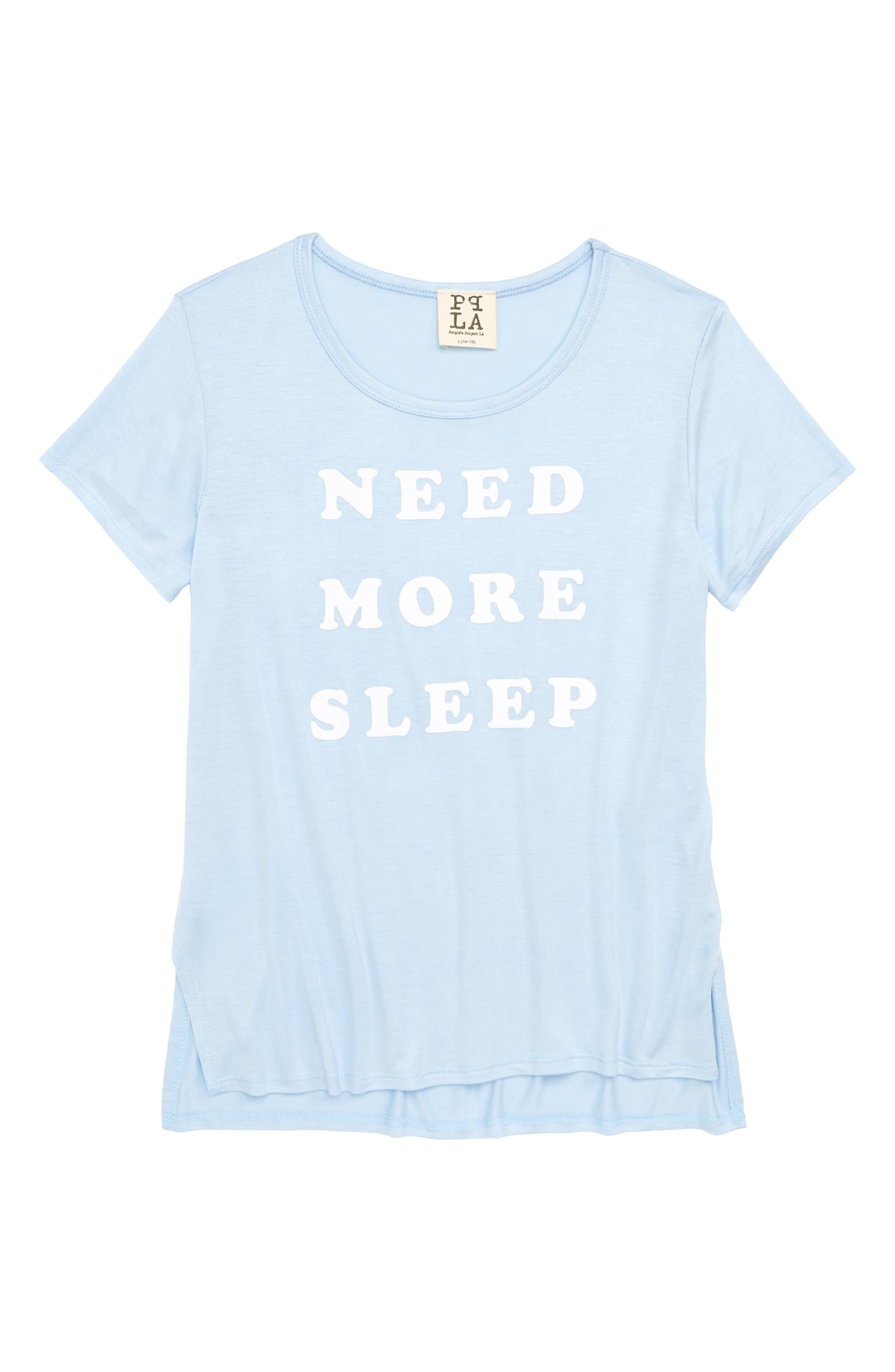 Main Image - PPLA Need More Sleep Tee (Big Girls)