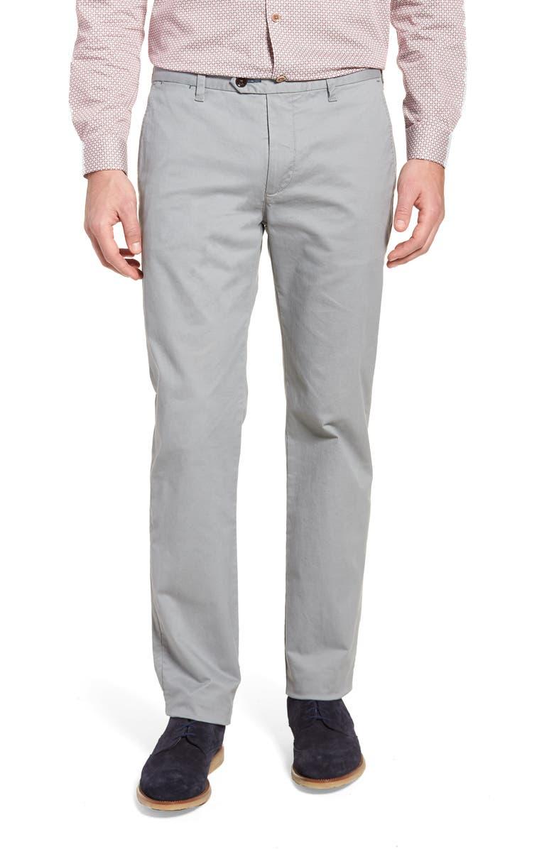 Proctt Flat Front Stretch Solid Cotton Pants