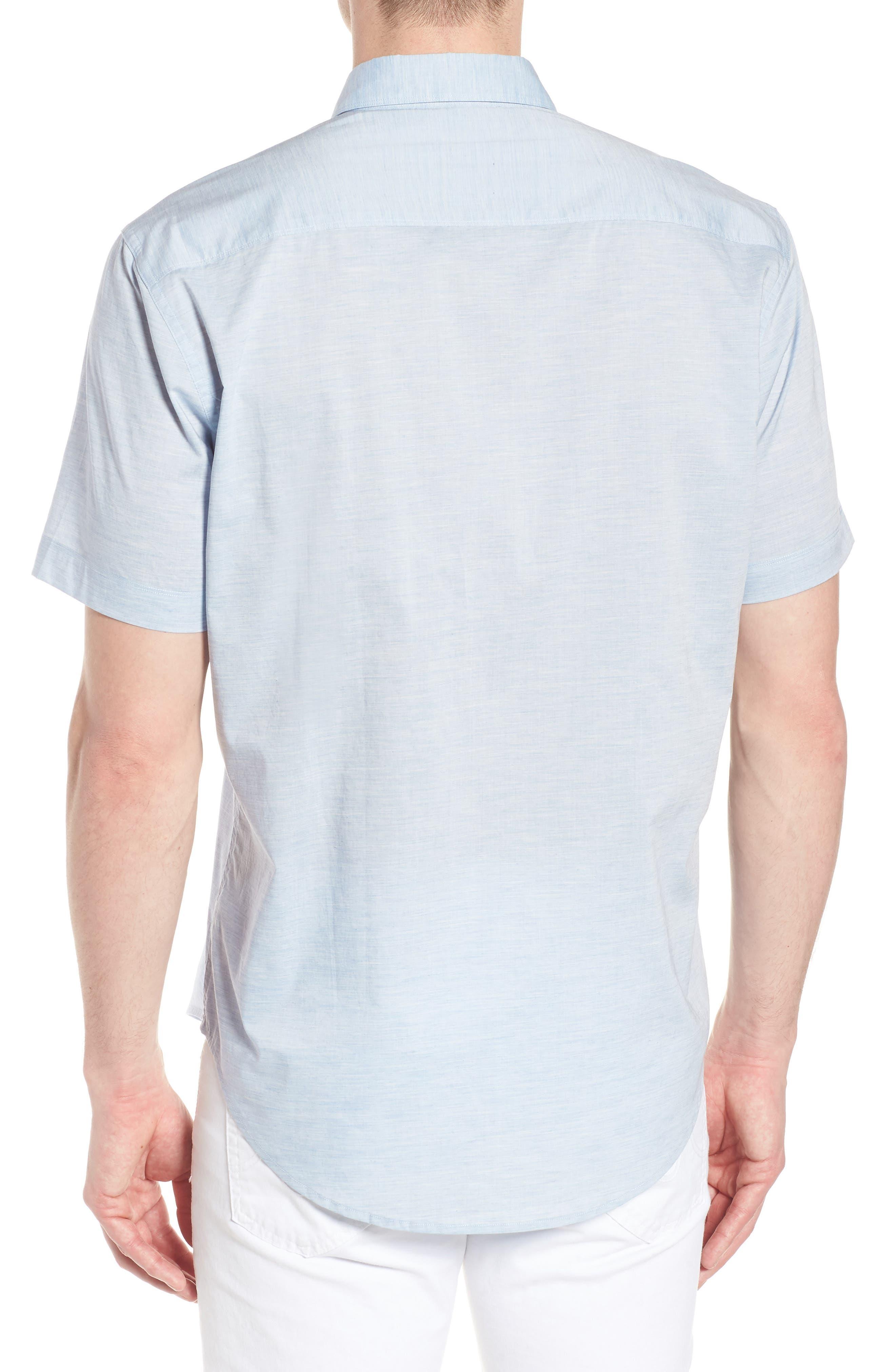 Solana Regular Fit Short Sleeve Sport Shirt,                             Alternate thumbnail 3, color,                             Blue