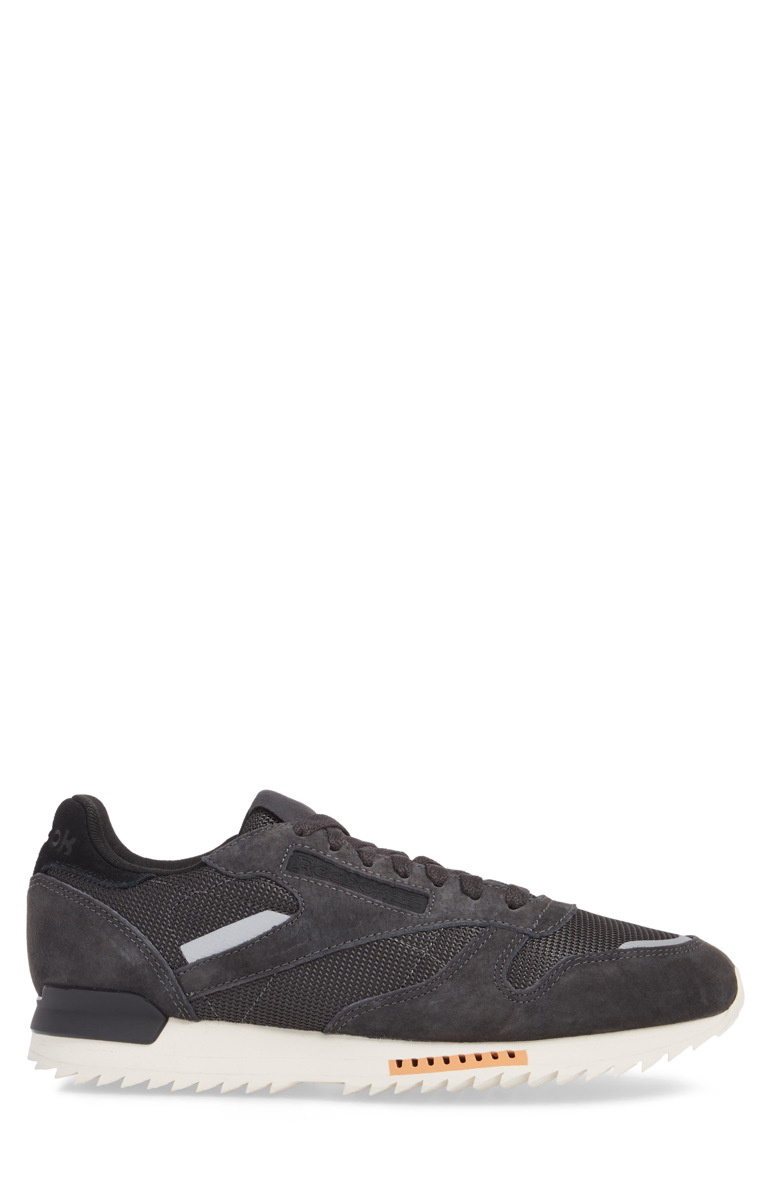 Classic Leather Ripple Sneaker,                             Alternate thumbnail 3, color,                             Coal/ Grey/ White/ Black/ Dust