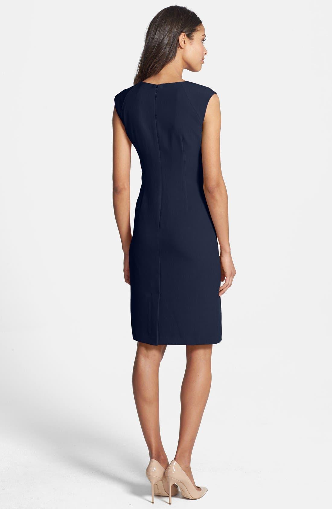 Alternate Image 2  - Adrianna Papell Pleated Crepe Dress