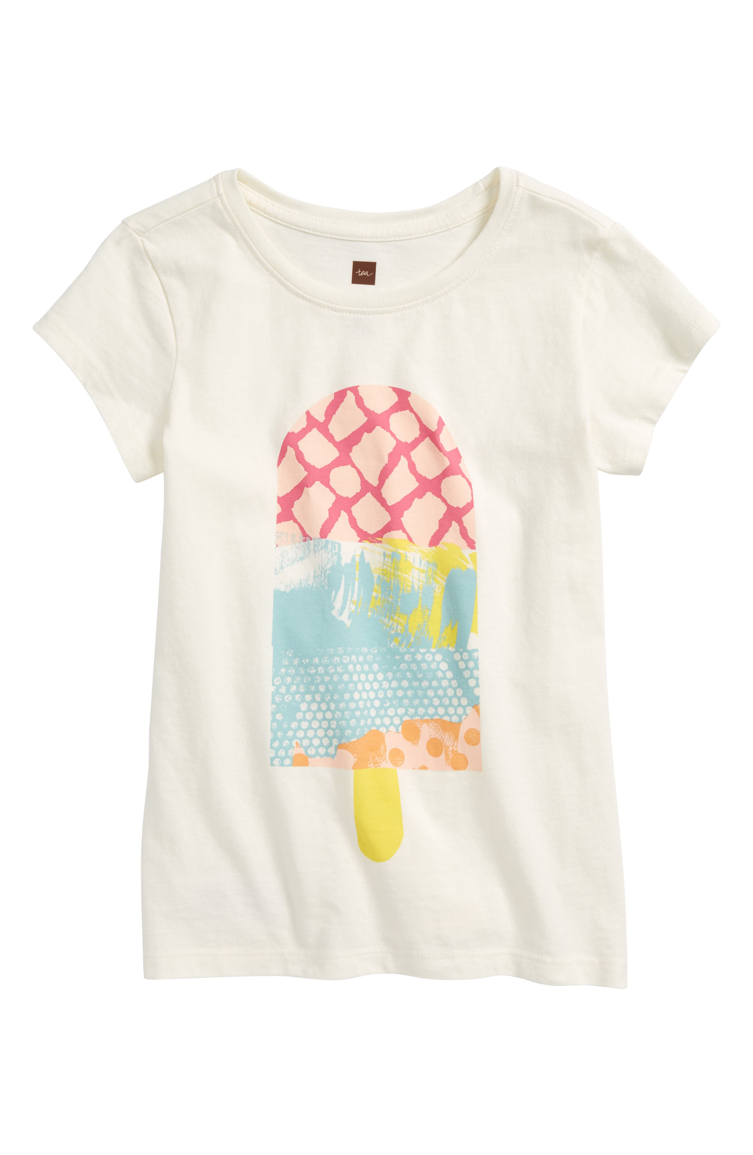 Popsicle Tee,                         Main,                         color, Chalk