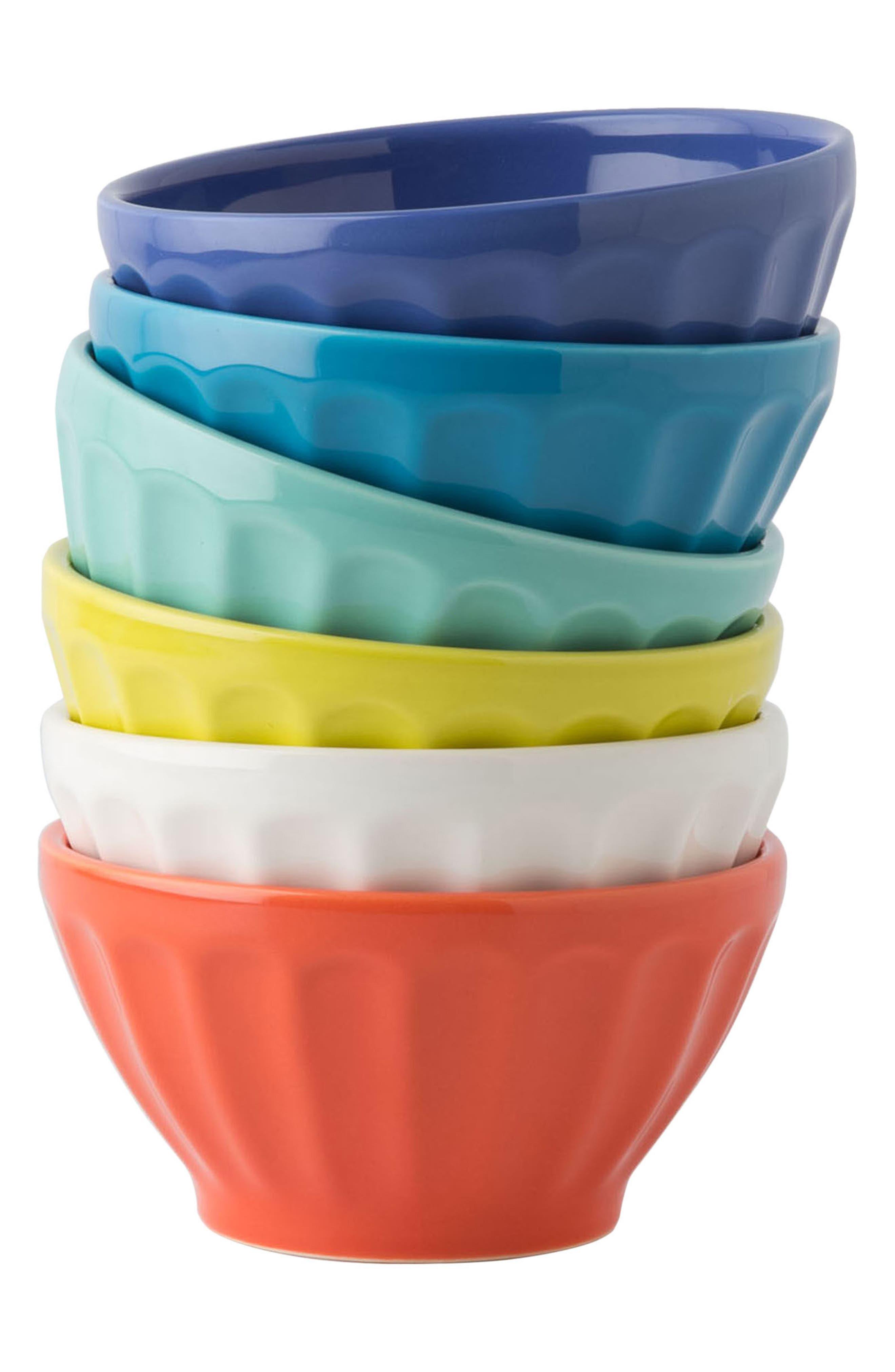 Set of 6 Latte Bowls,                             Alternate thumbnail 3, color,                             Citrus