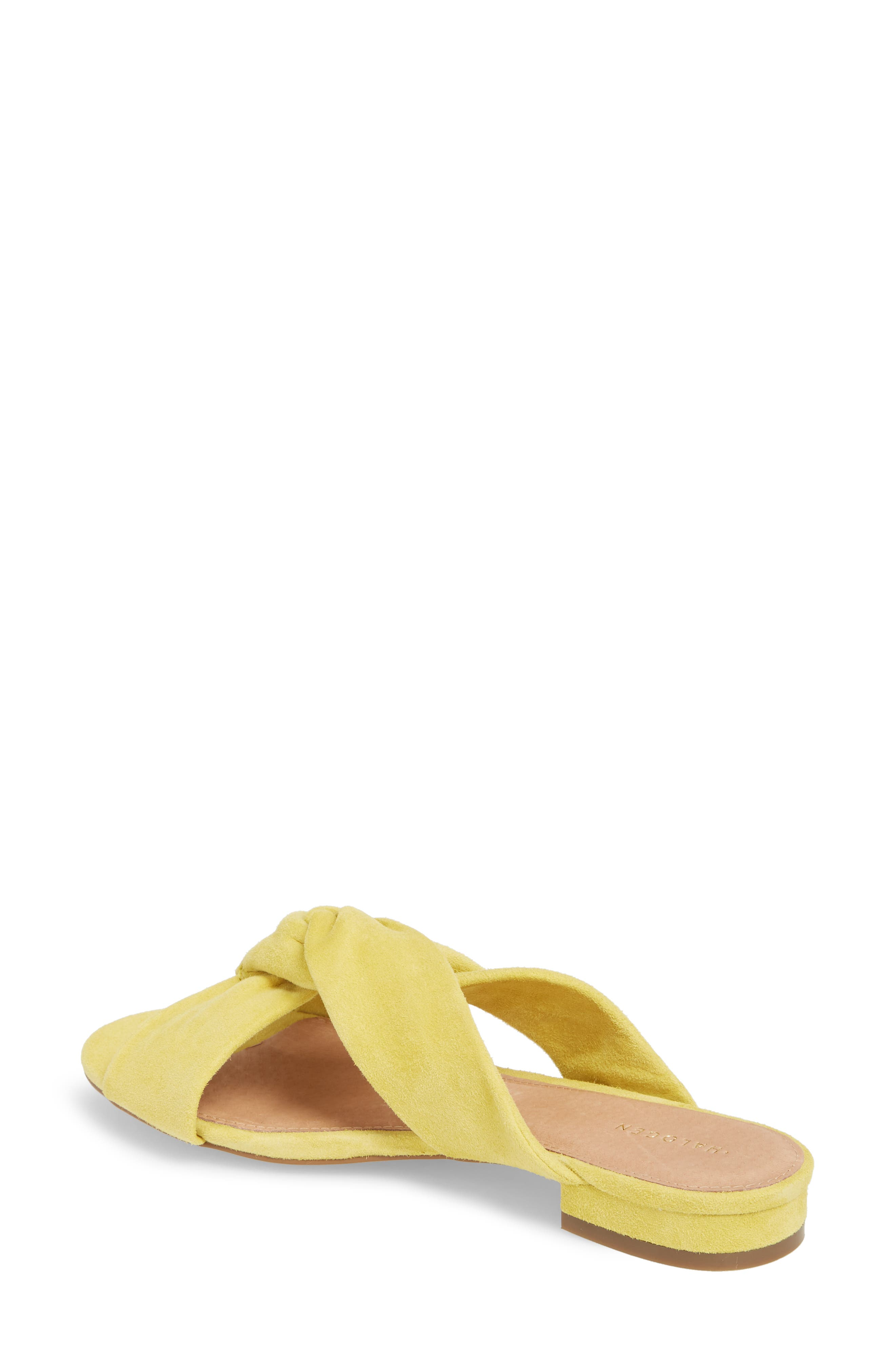 Andre Slide Sandal,                             Alternate thumbnail 2, color,                             Mustard Suede