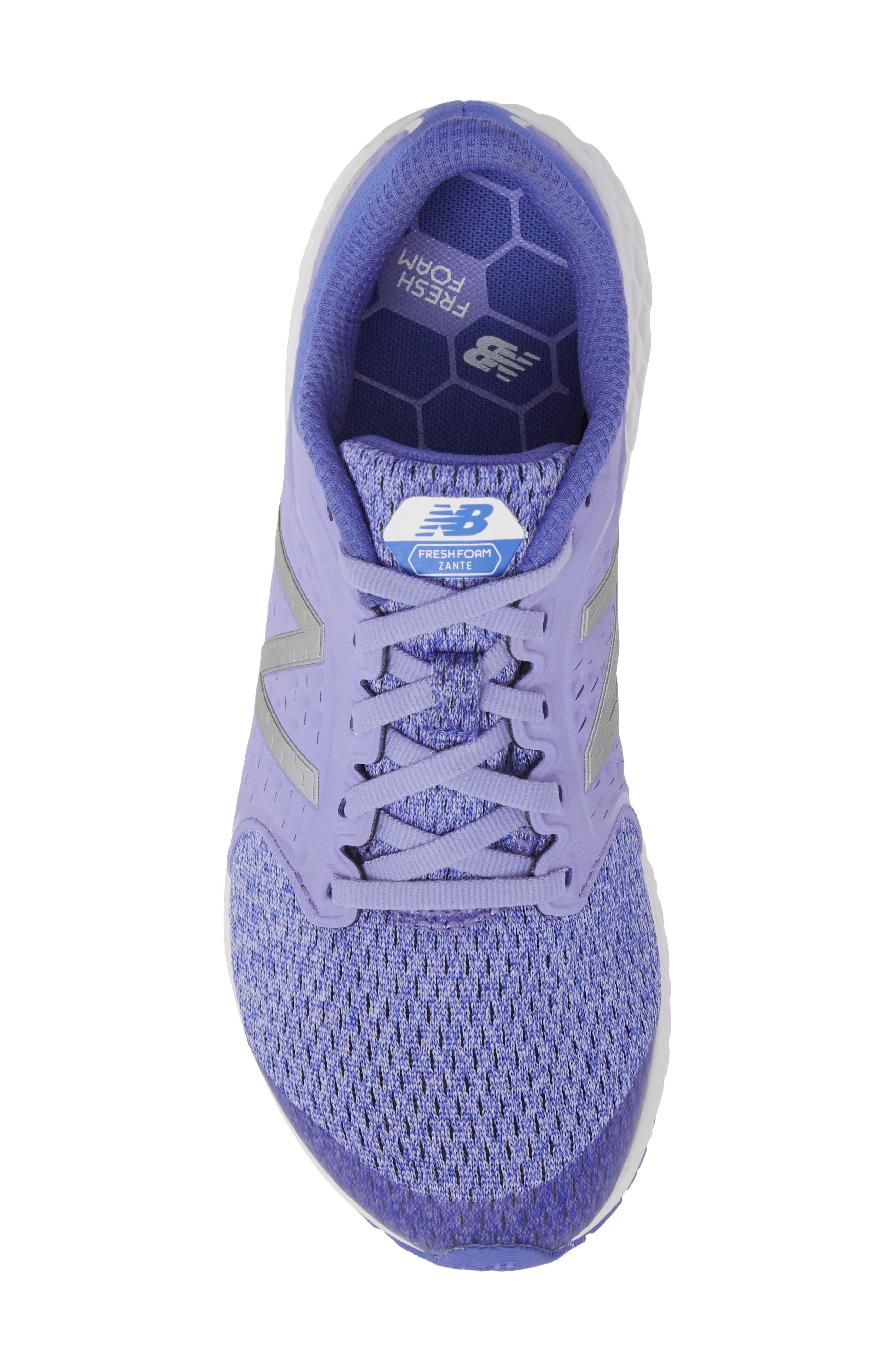Fresh Foam Zante v4 Running Shoe,                             Alternate thumbnail 5, color,                             Ice Violet
