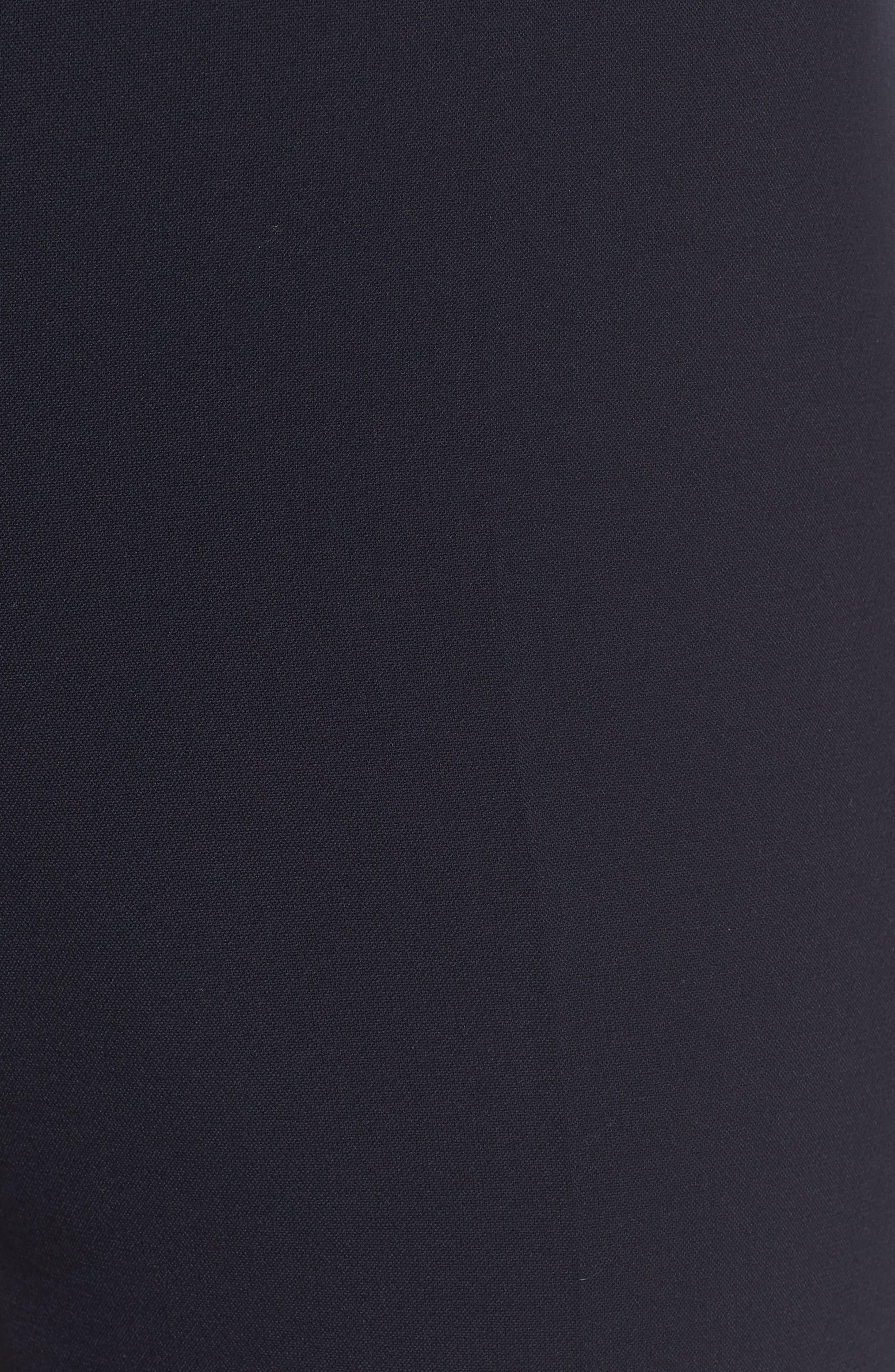 Tiluna Side Zip Ponte Trousers,                             Alternate thumbnail 5, color,                             Navy
