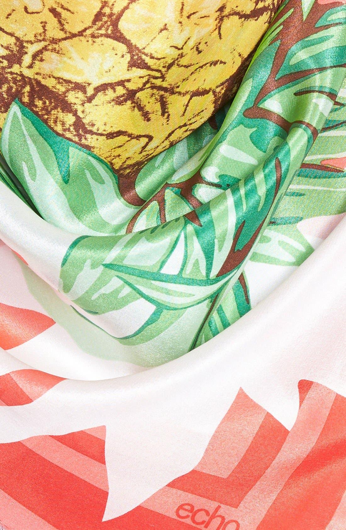 Alternate Image 3  - Echo 'Pineapple Party' Silk Scarf