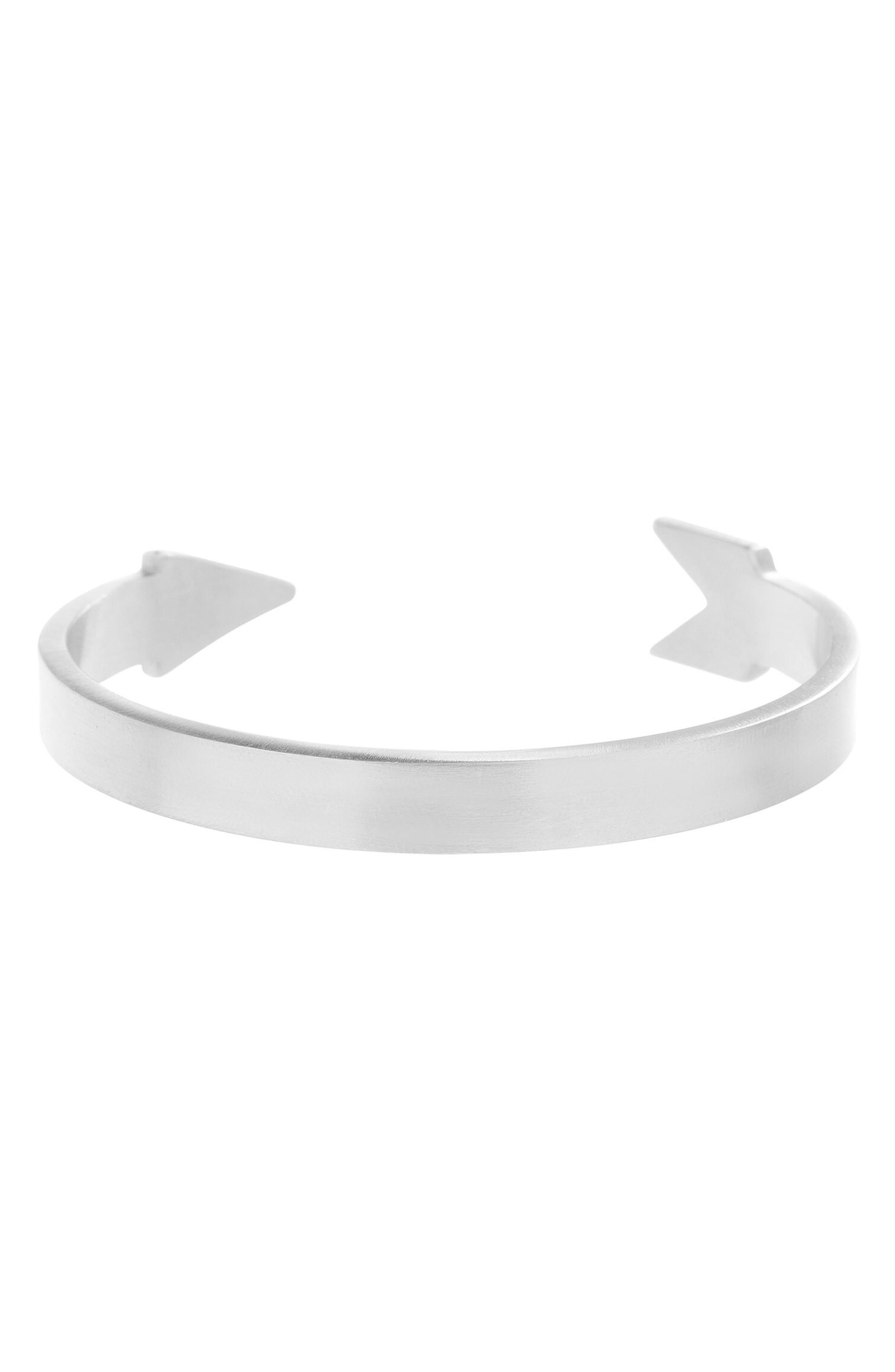 Arrow Cuff,                         Main,                         color, Silver