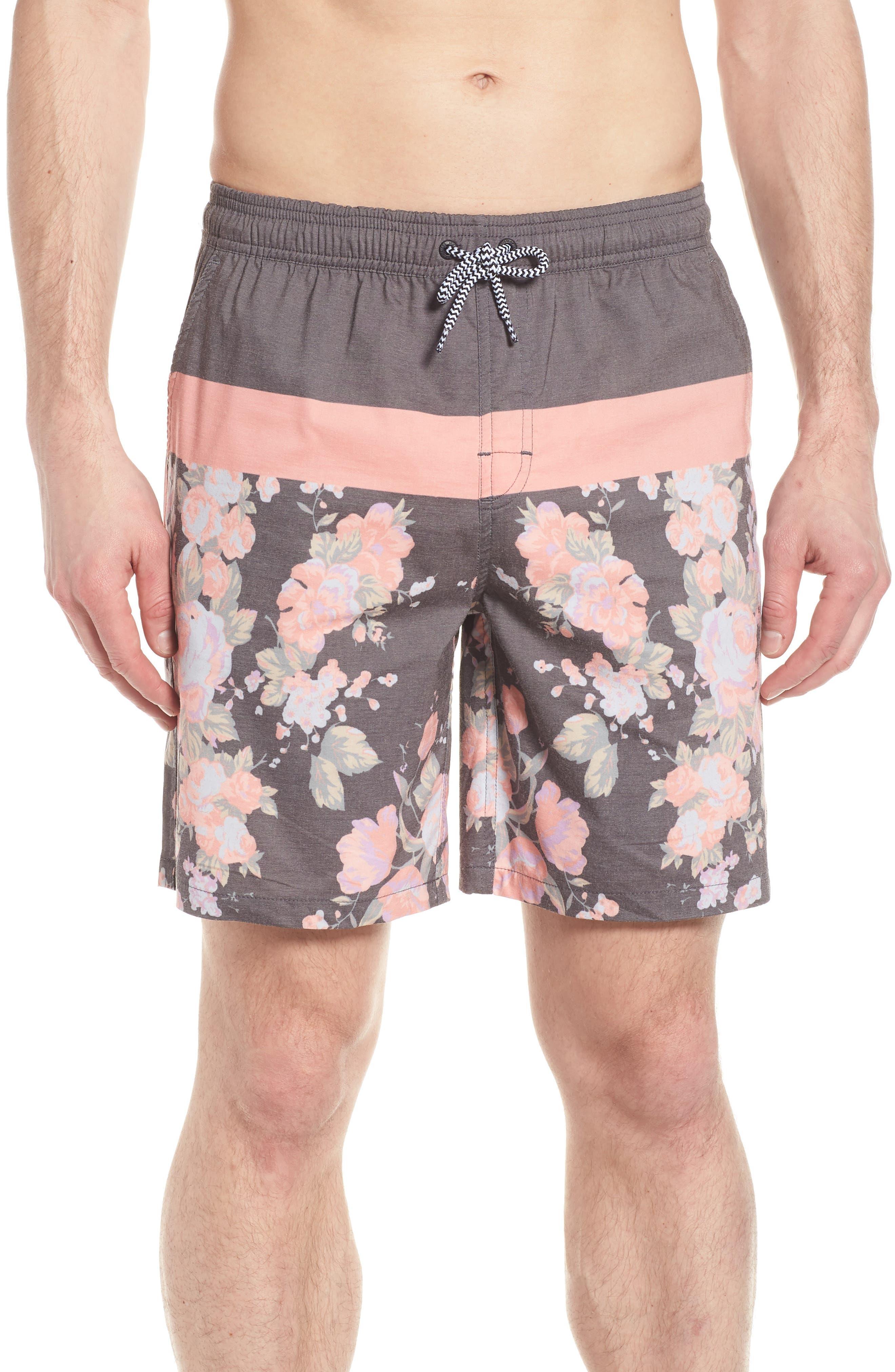 Hayworth Board Shorts,                         Main,                         color, Black