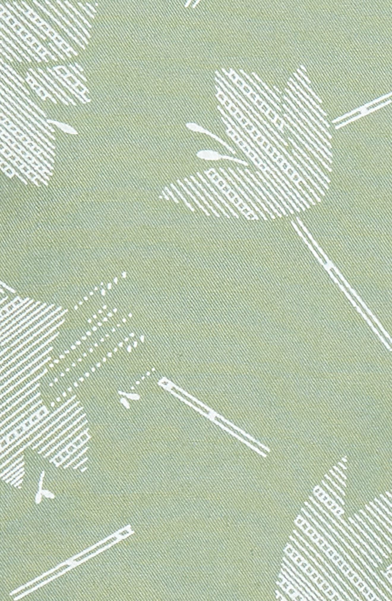 Deco Floral Print Shorts,                             Alternate thumbnail 5, color,                             Green Hedge Deco Floral
