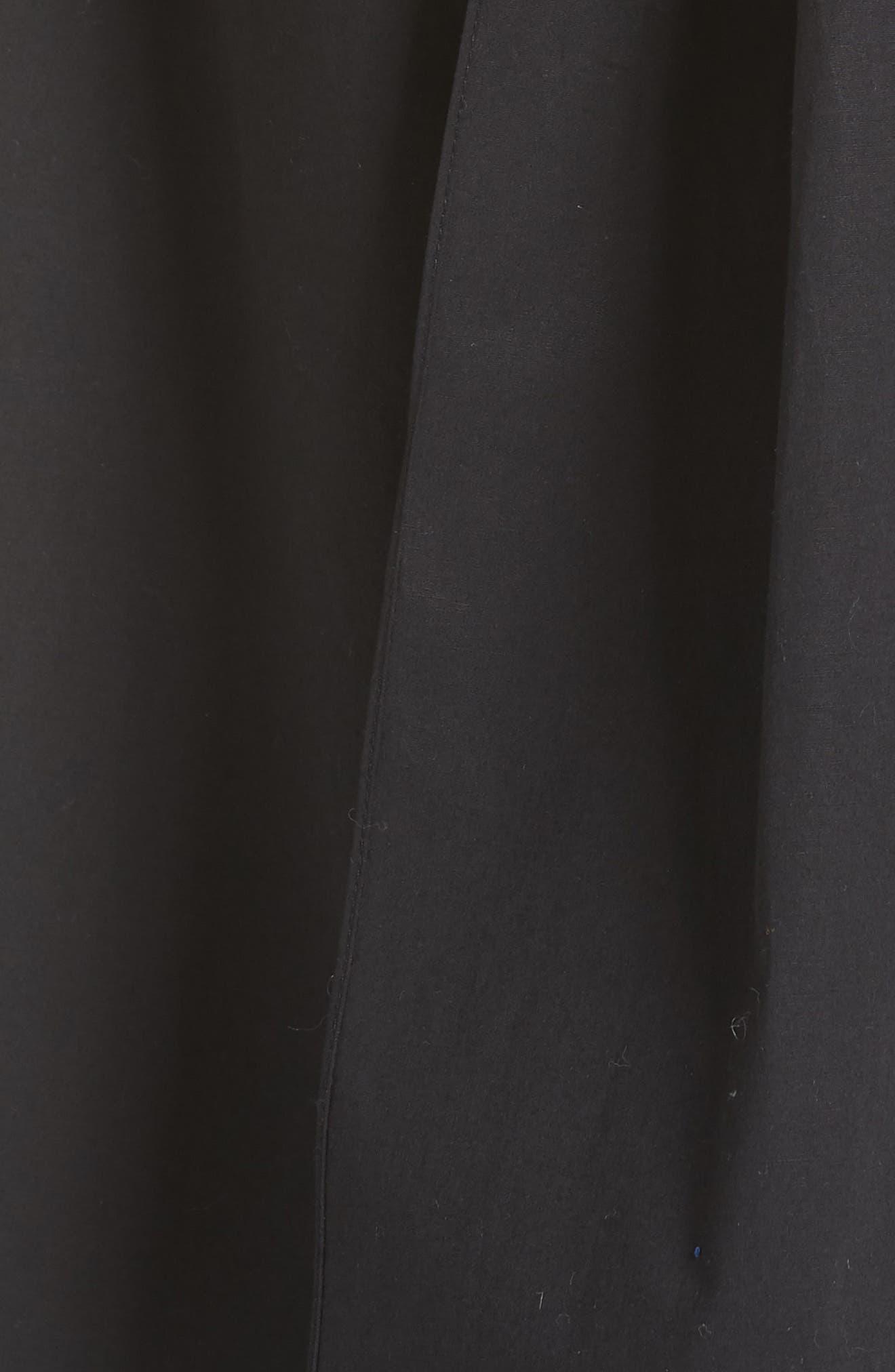 Miriam Wrap Dress,                             Alternate thumbnail 5, color,                             Cotton Black