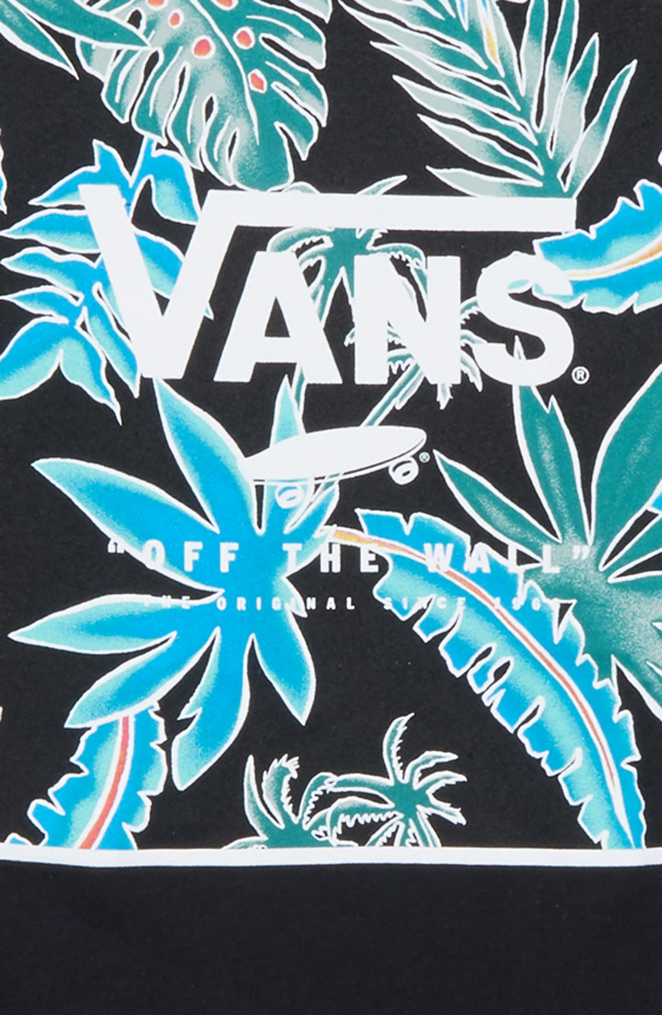 Logo Box Graphic T-Shirt,                             Alternate thumbnail 2, color,                             Black/ Black Pit Stop Floral
