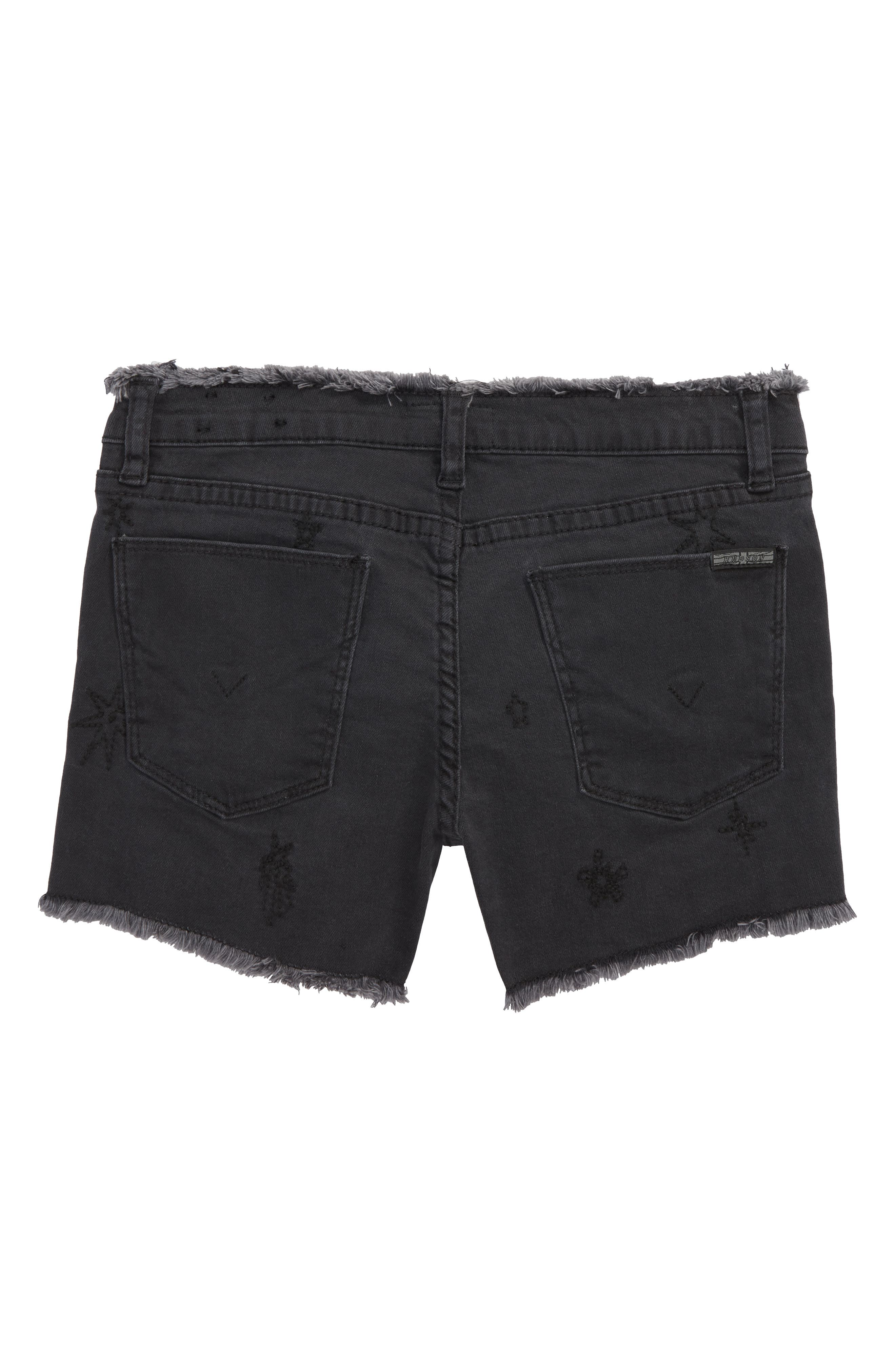 Starry Night Embroidered Cutoff Stretch Twill Shorts,                             Alternate thumbnail 2, color,                             Nhs-Night Sky