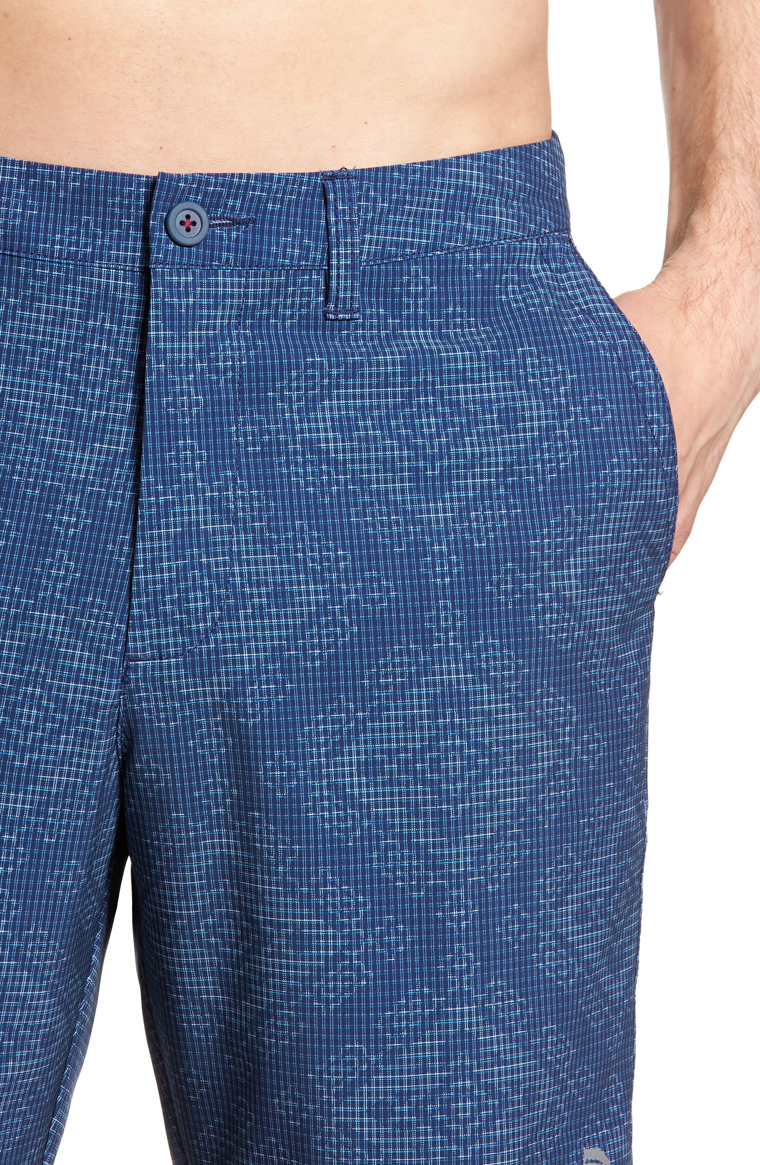 Cayman Geo de Mayo Swim Trunks,                             Alternate thumbnail 4, color,                             Throne Blue