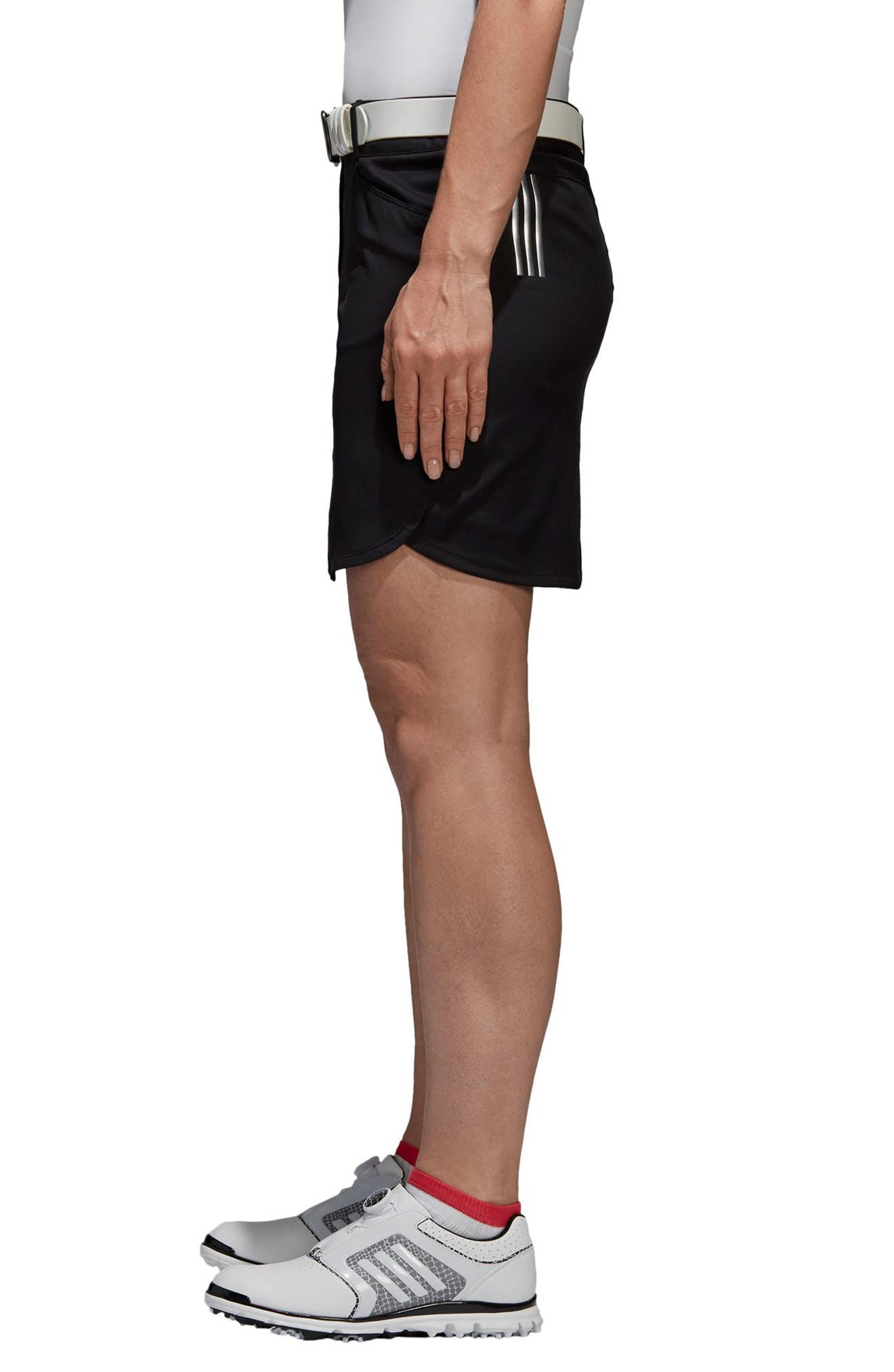 Essentials 3-Stripes Skort,                             Alternate thumbnail 3, color,                             Black