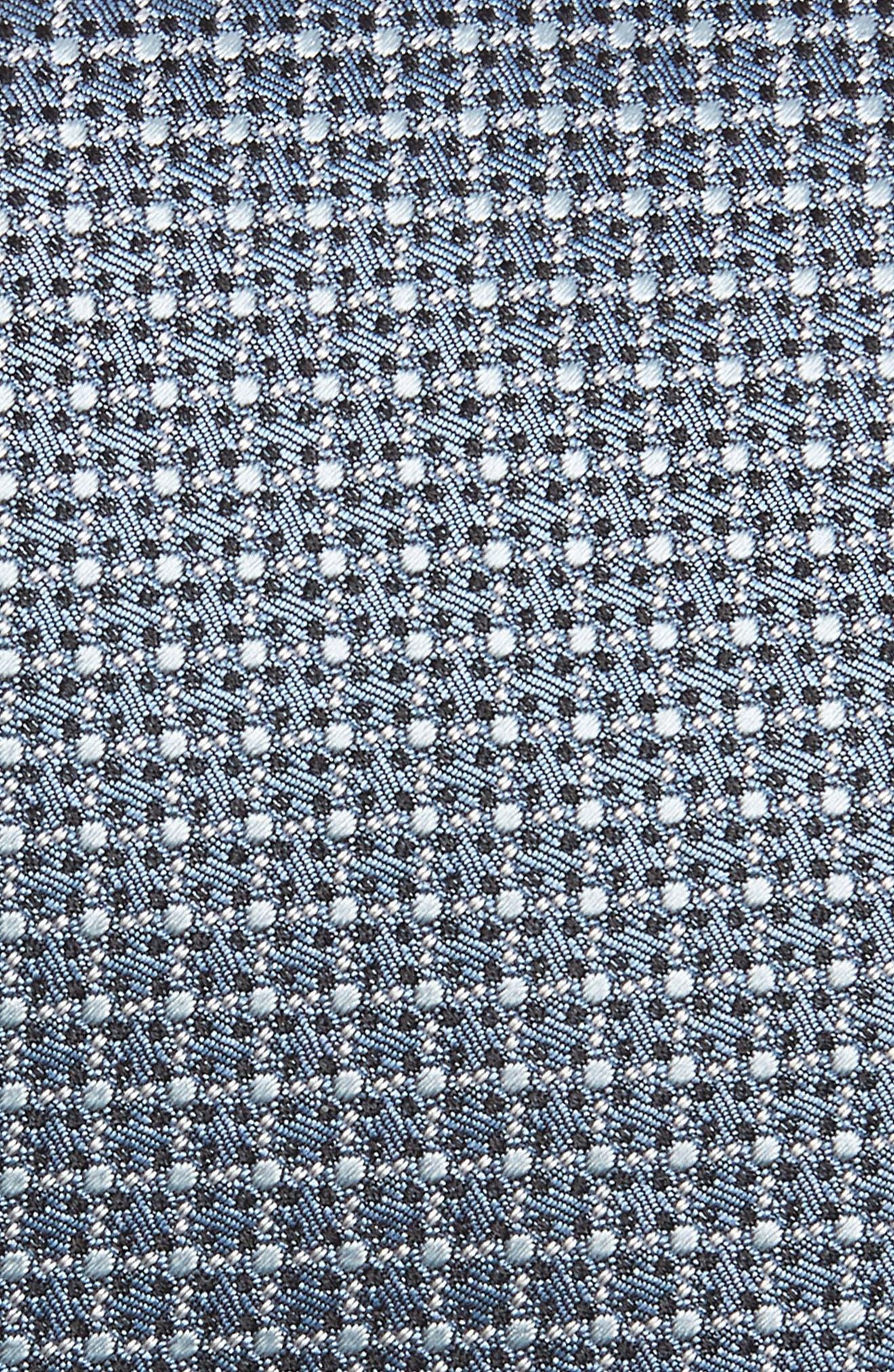 Grid Silk Tie,                             Alternate thumbnail 2, color,                             Grey