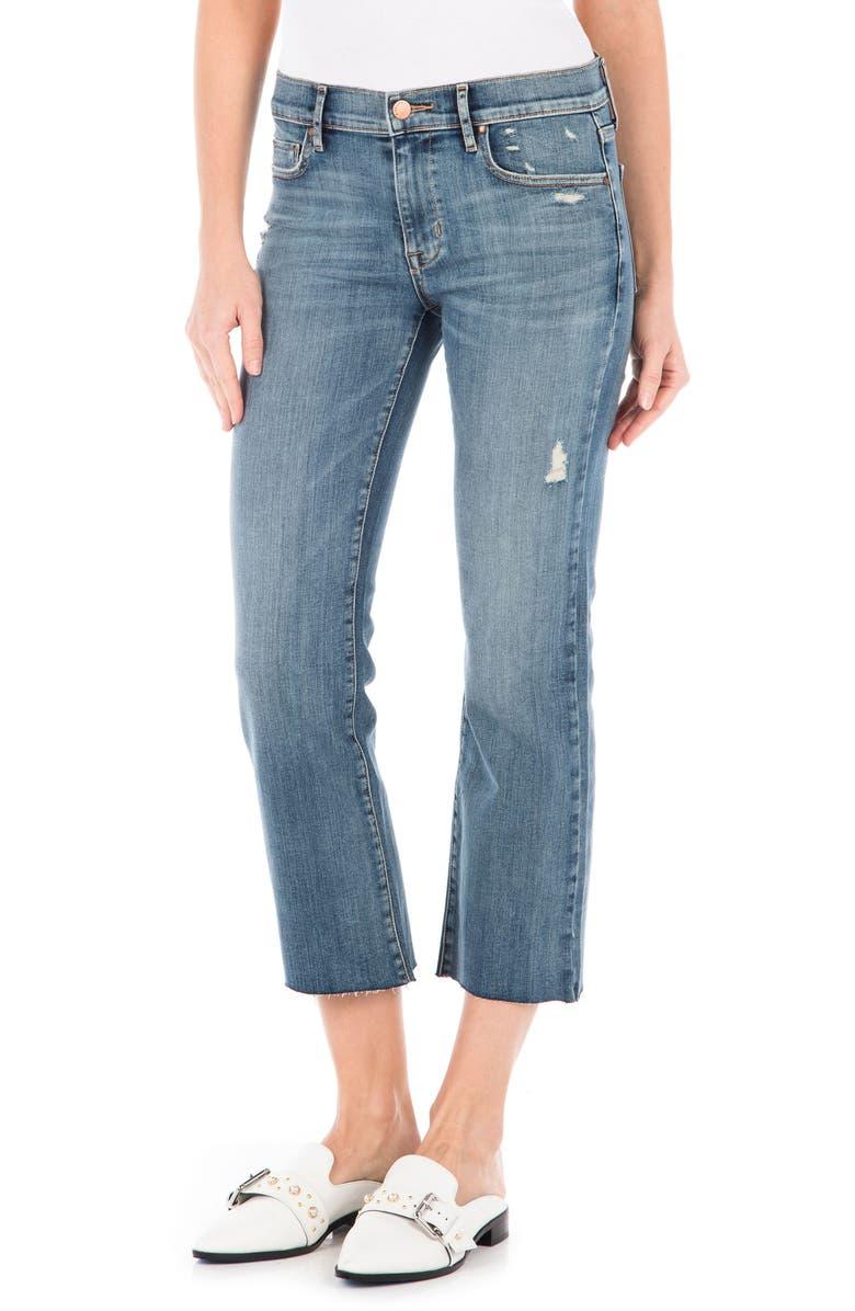 Hayden Raw Hem Crop Jeans