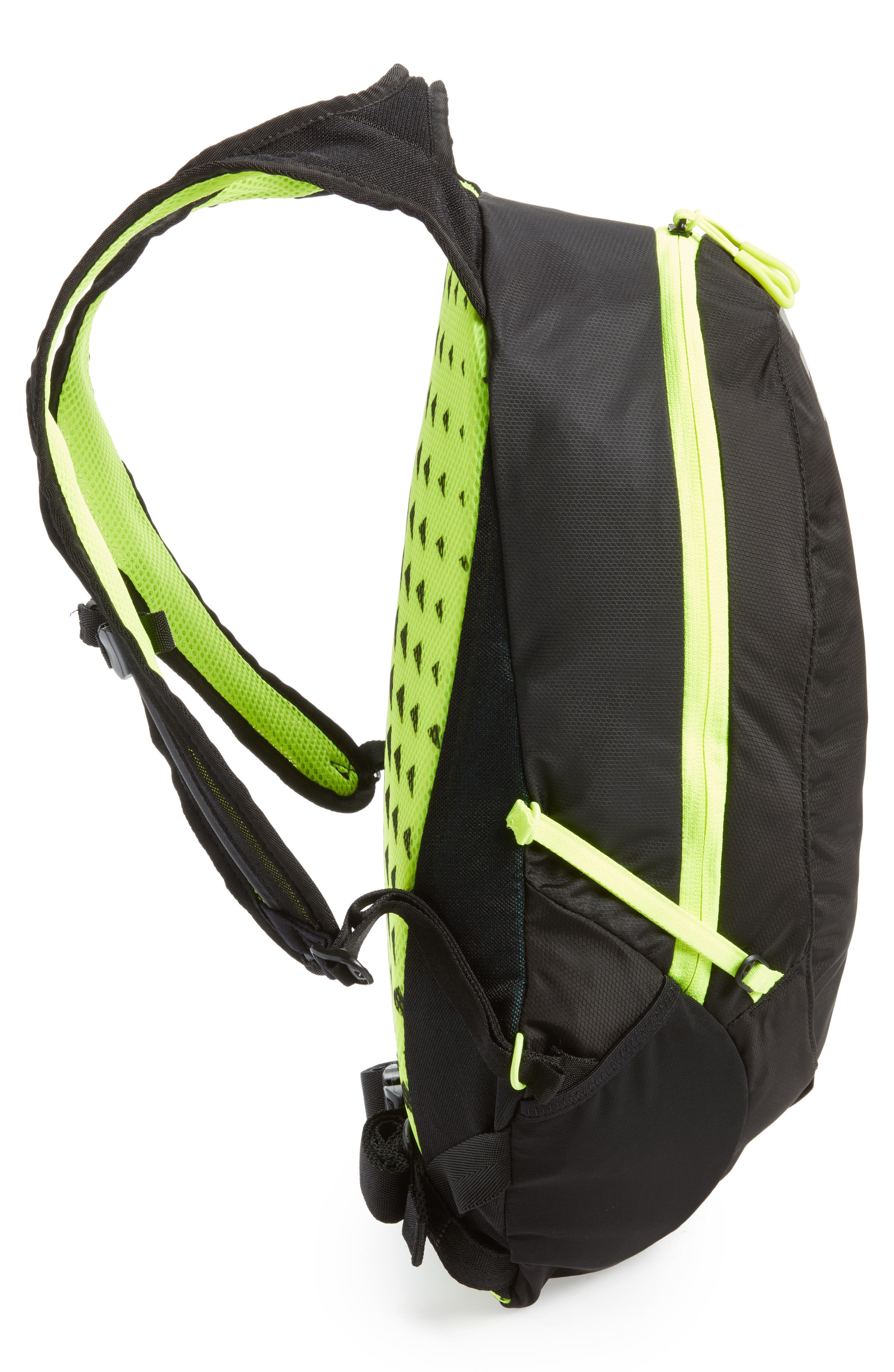 Run Commuter Backpack,                             Alternate thumbnail 5, color,                             Black/ Volt/ Silver