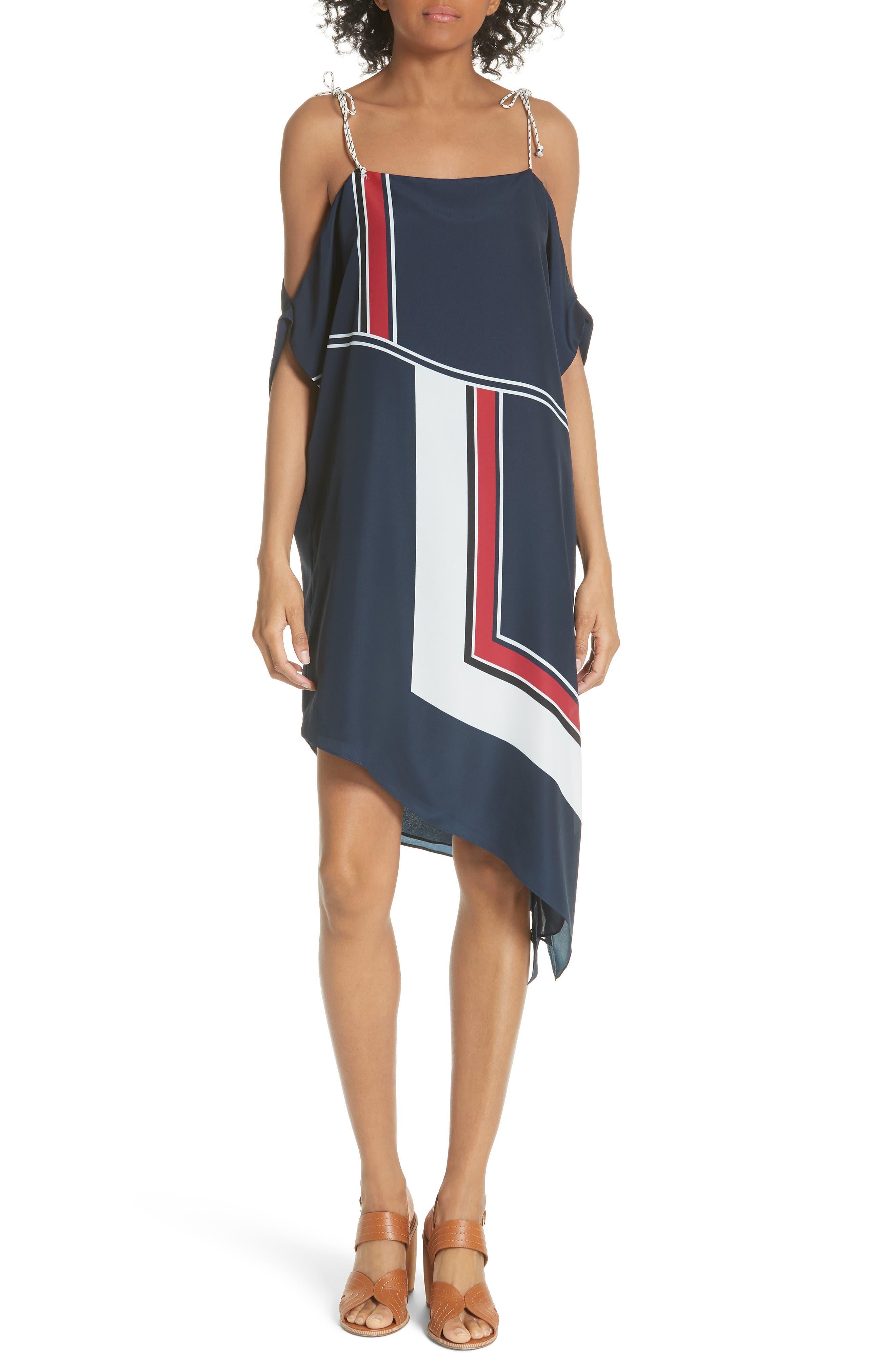 Edyte Asymmetrical Dress,                             Main thumbnail 1, color,                             Dark Navy